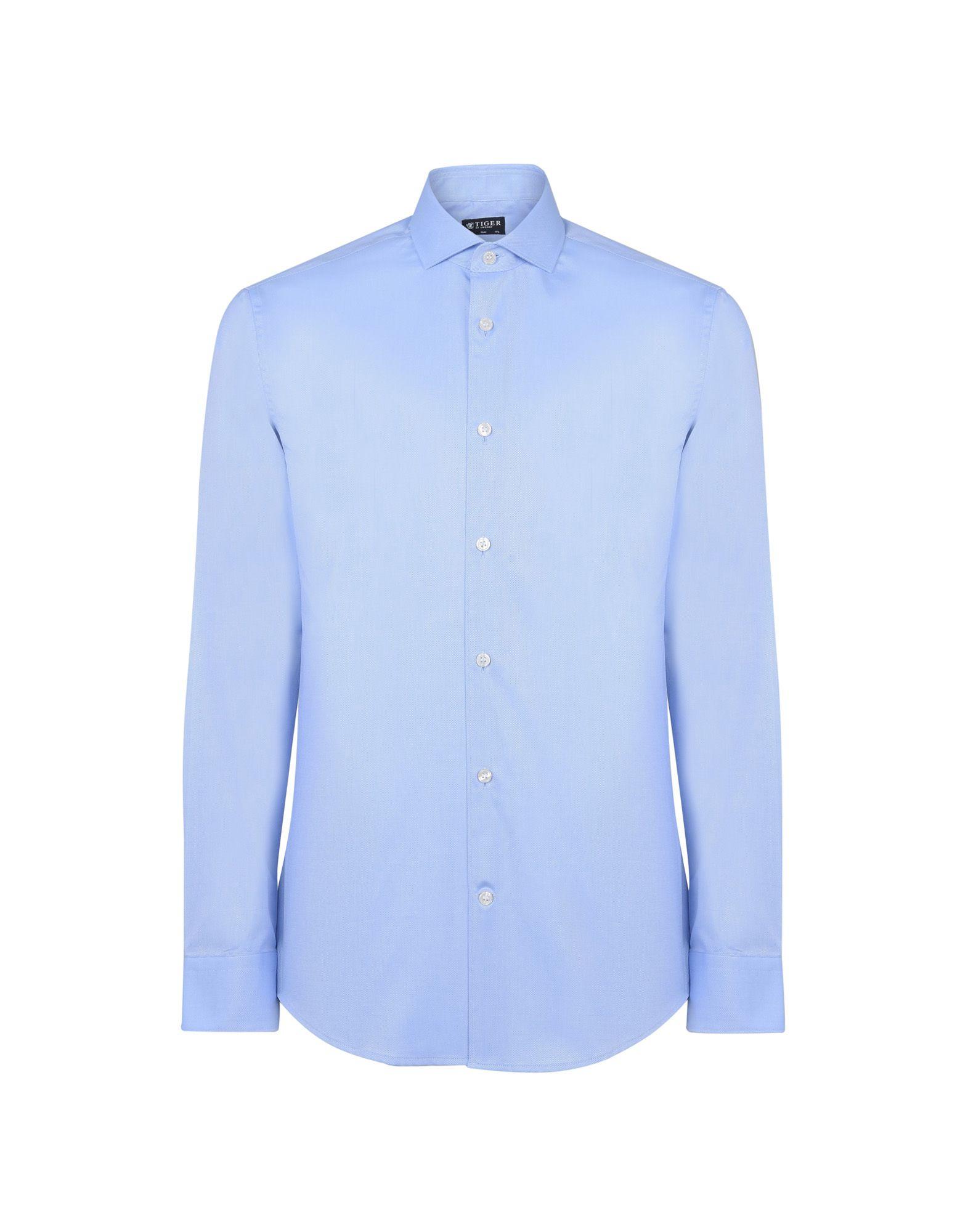 《送料無料》TIGER OF SWEDEN メンズ シャツ アジュールブルー 40 コットン 100% FARRELL 5