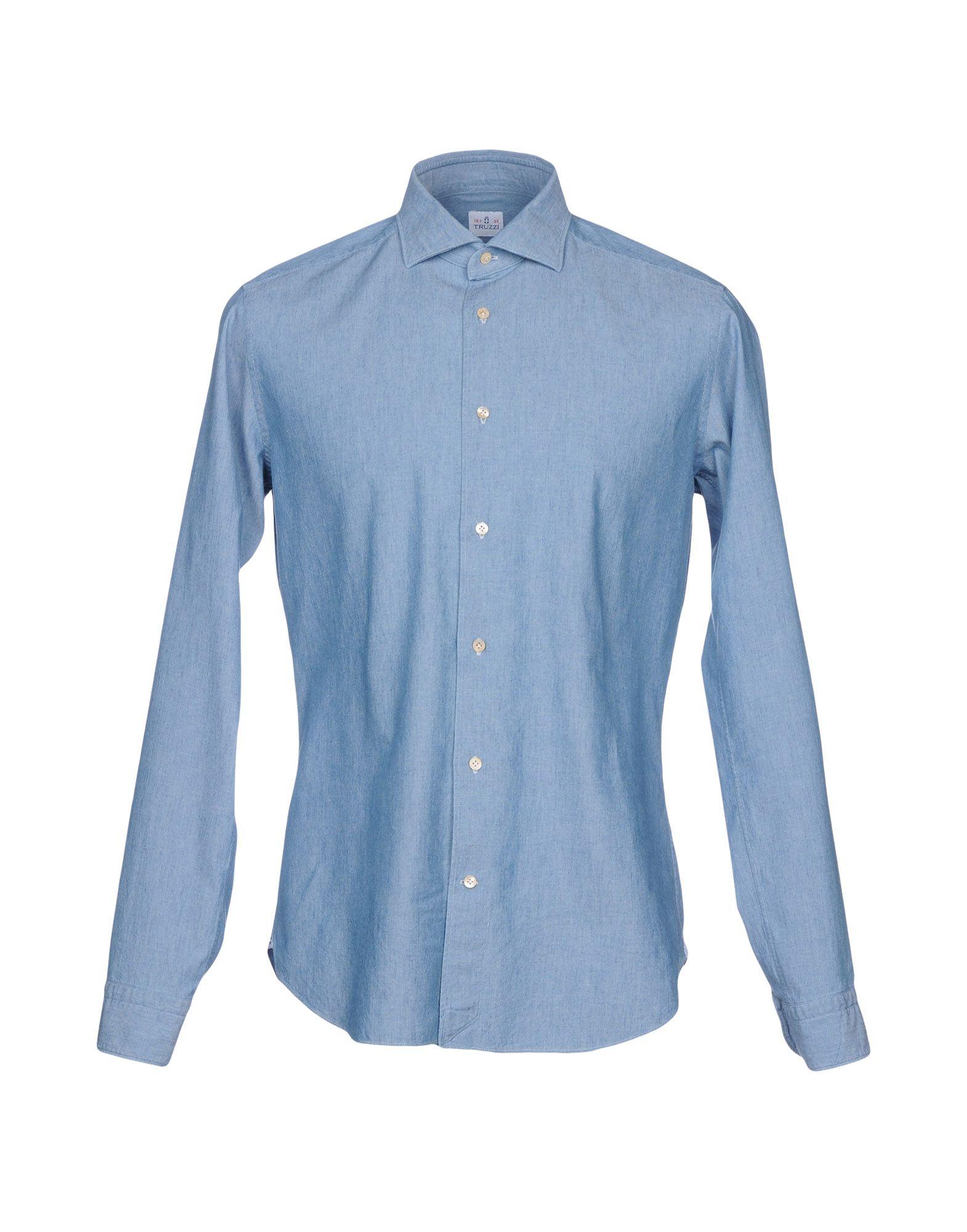 TRUZZI Джинсовая рубашка дверь межкомнатная из массива удача 2000х600х40 глухая без отделки