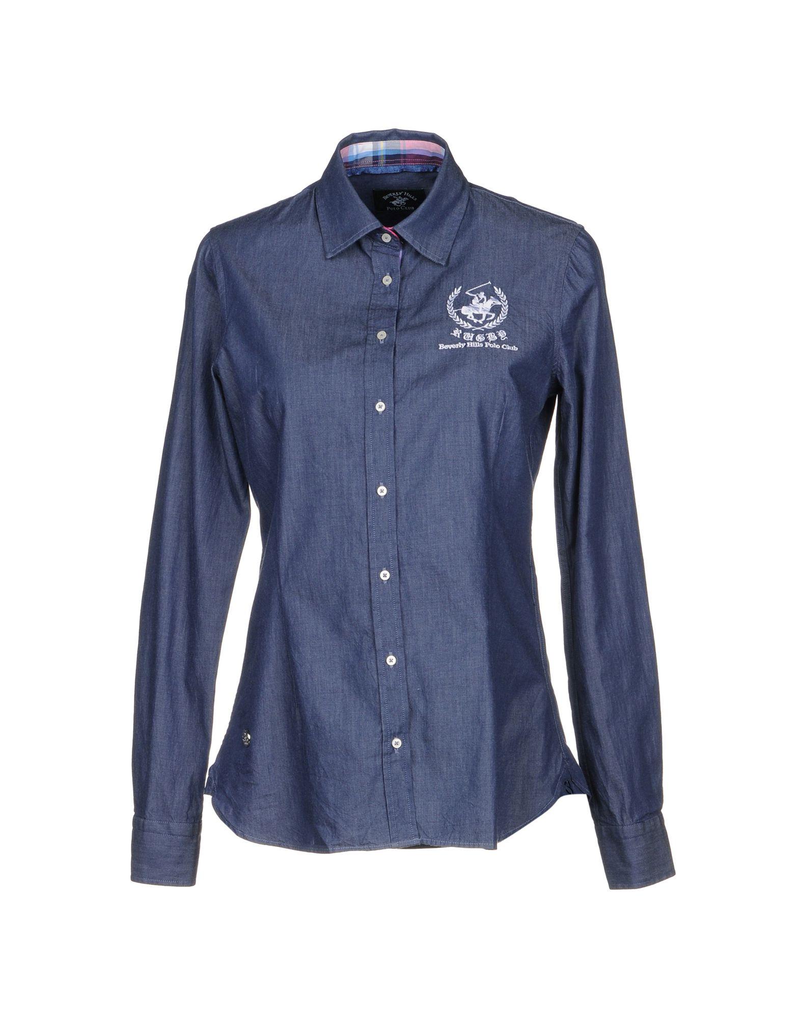 BEVERLY HILLS POLO CLUB Джинсовая рубашка