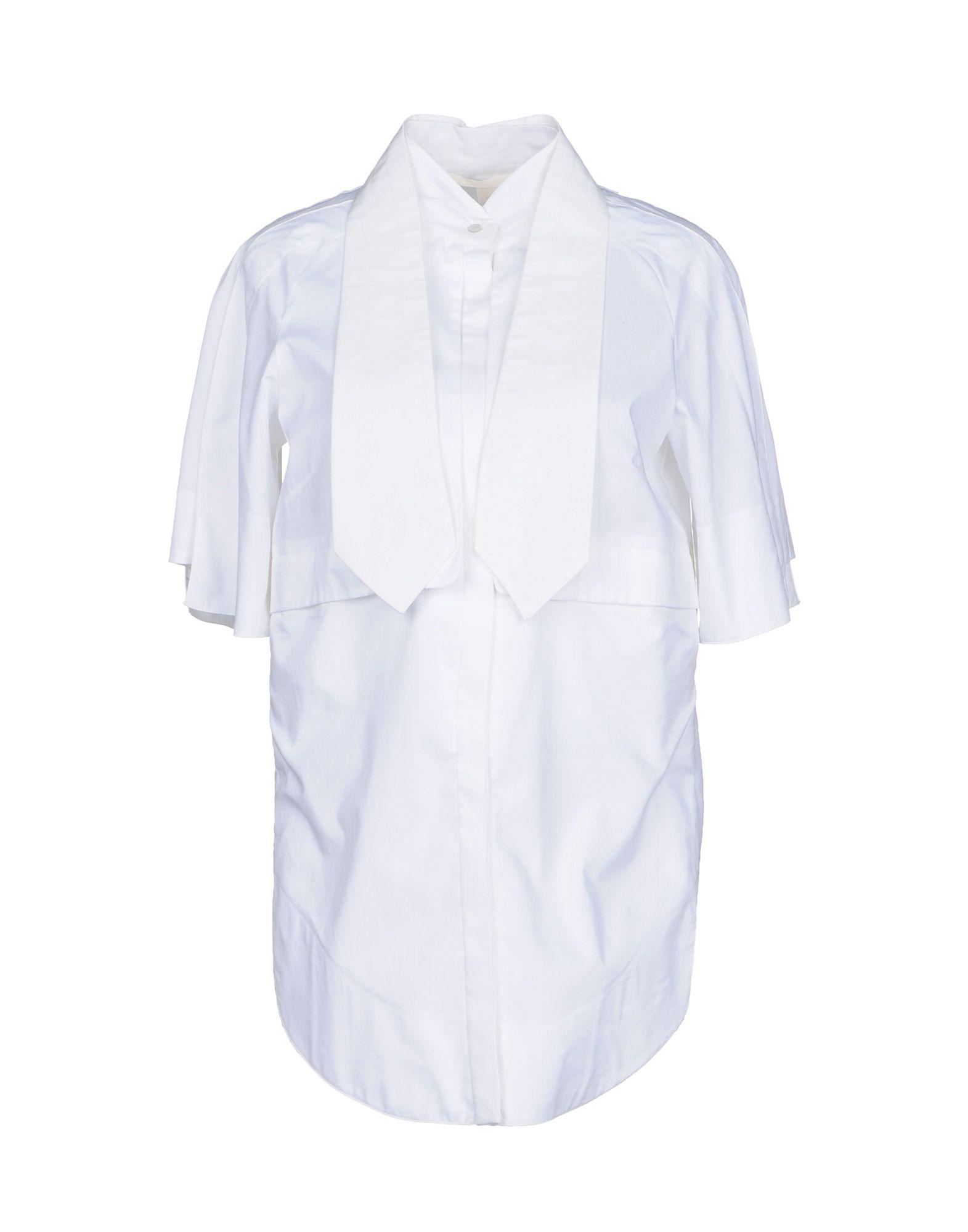 《送料無料》ANTONIO BERARDI レディース シャツ ホワイト 40 コットン 100%