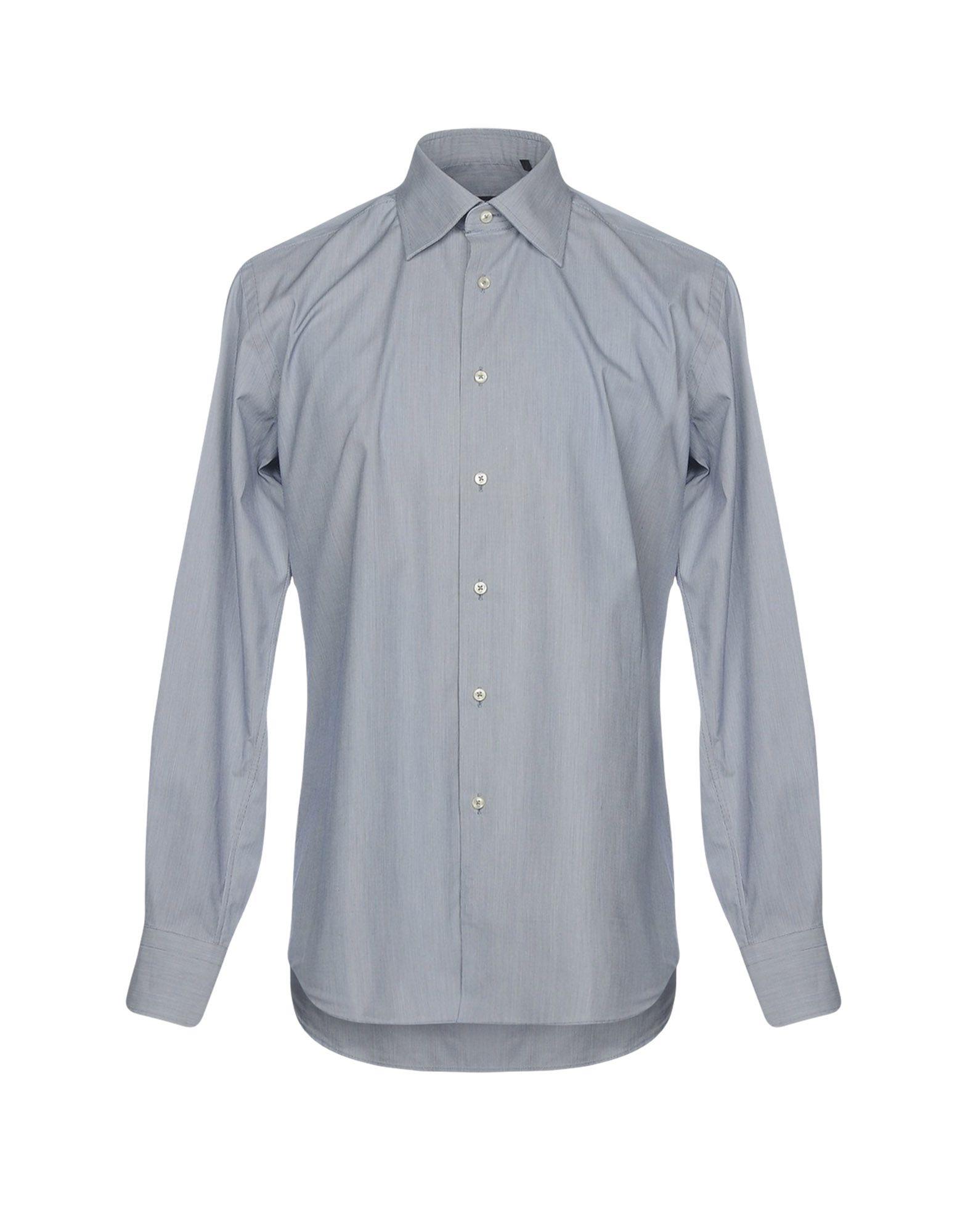 《セール開催中》PAUL CLEMENTI メンズ シャツ ブルー 40 コットン 100%