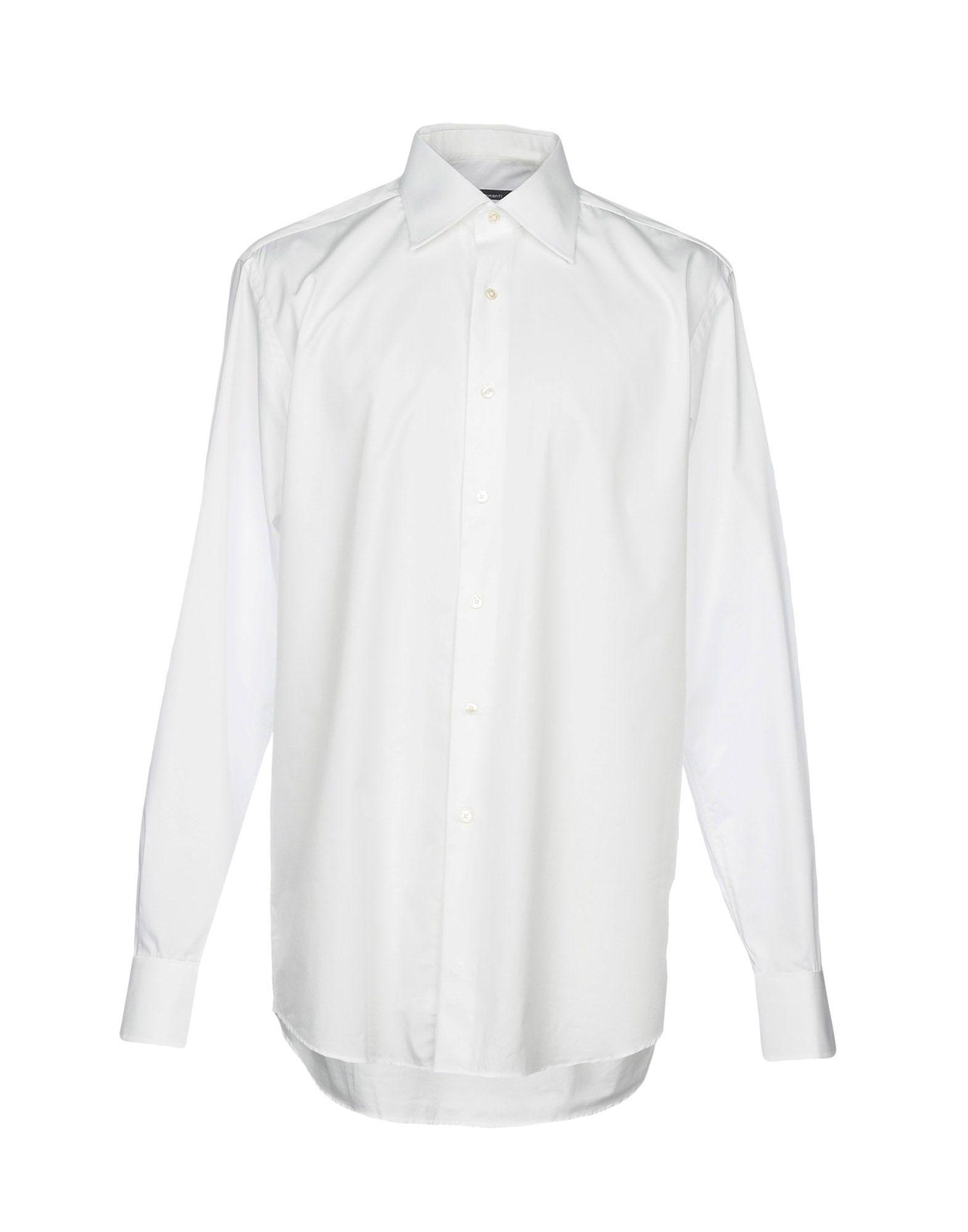 《期間限定セール開催中!》PAUL CLEMENTI メンズ シャツ ホワイト 43 コットン 100%