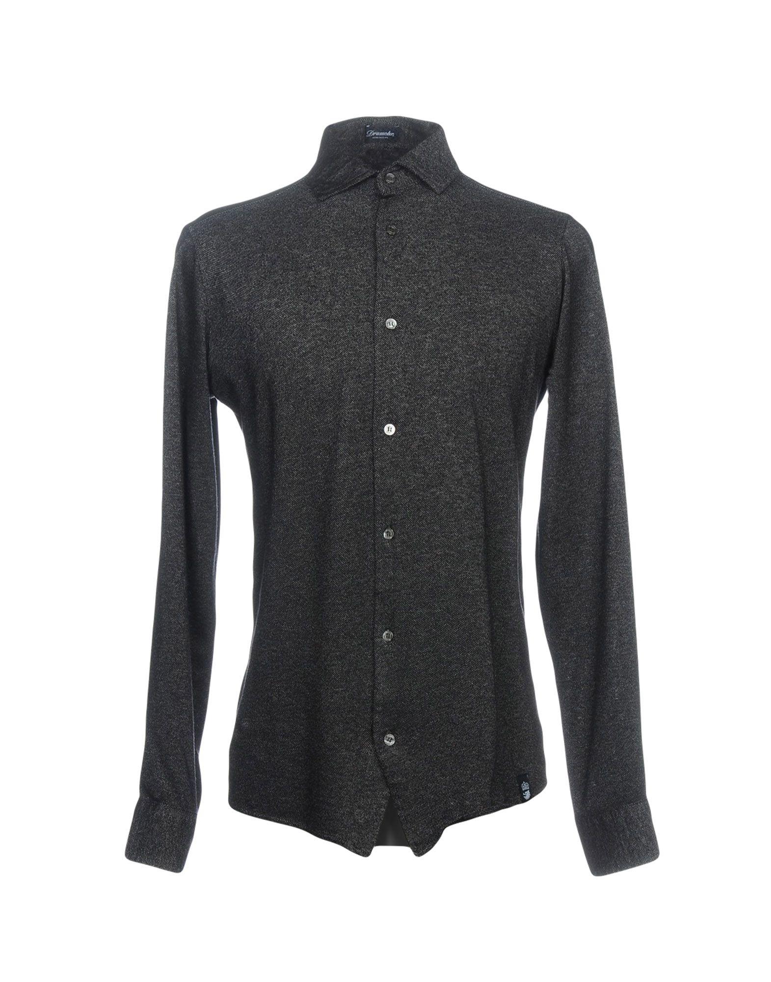 《送料無料》DRUMOHR メンズ シャツ ブラック S 100% コットン