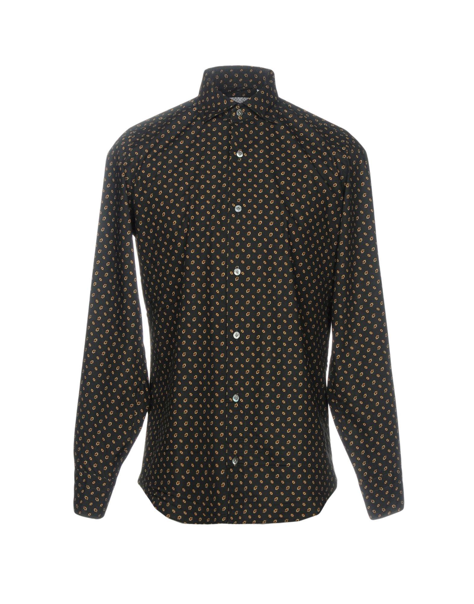 《送料無料》DRUMOHR メンズ シャツ ブラック 40 コットン 100%
