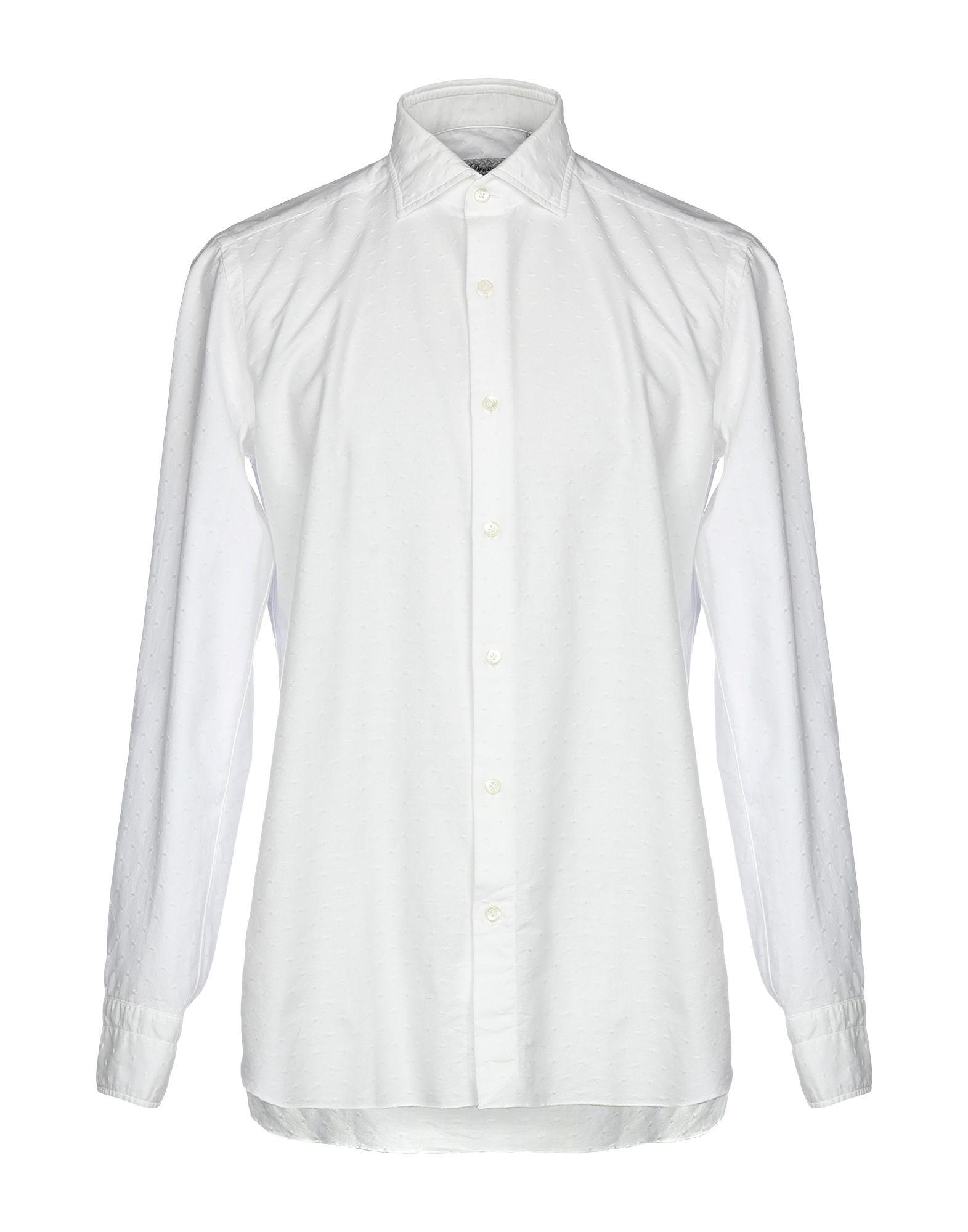《送料無料》DRUMOHR メンズ シャツ アイボリー 38 100% コットン