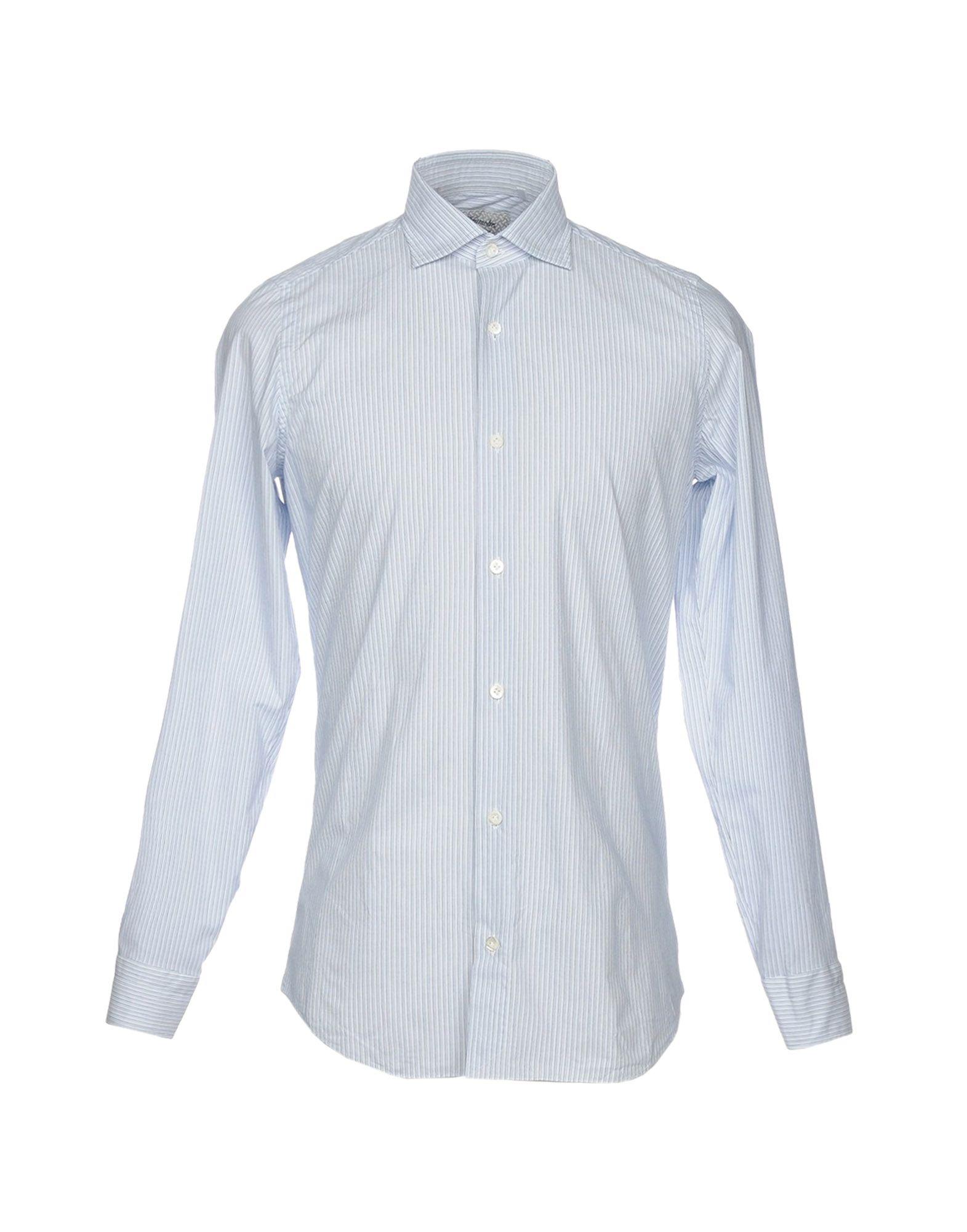 《送料無料》DRUMOHR メンズ シャツ ライトグレー 39 コットン 100%