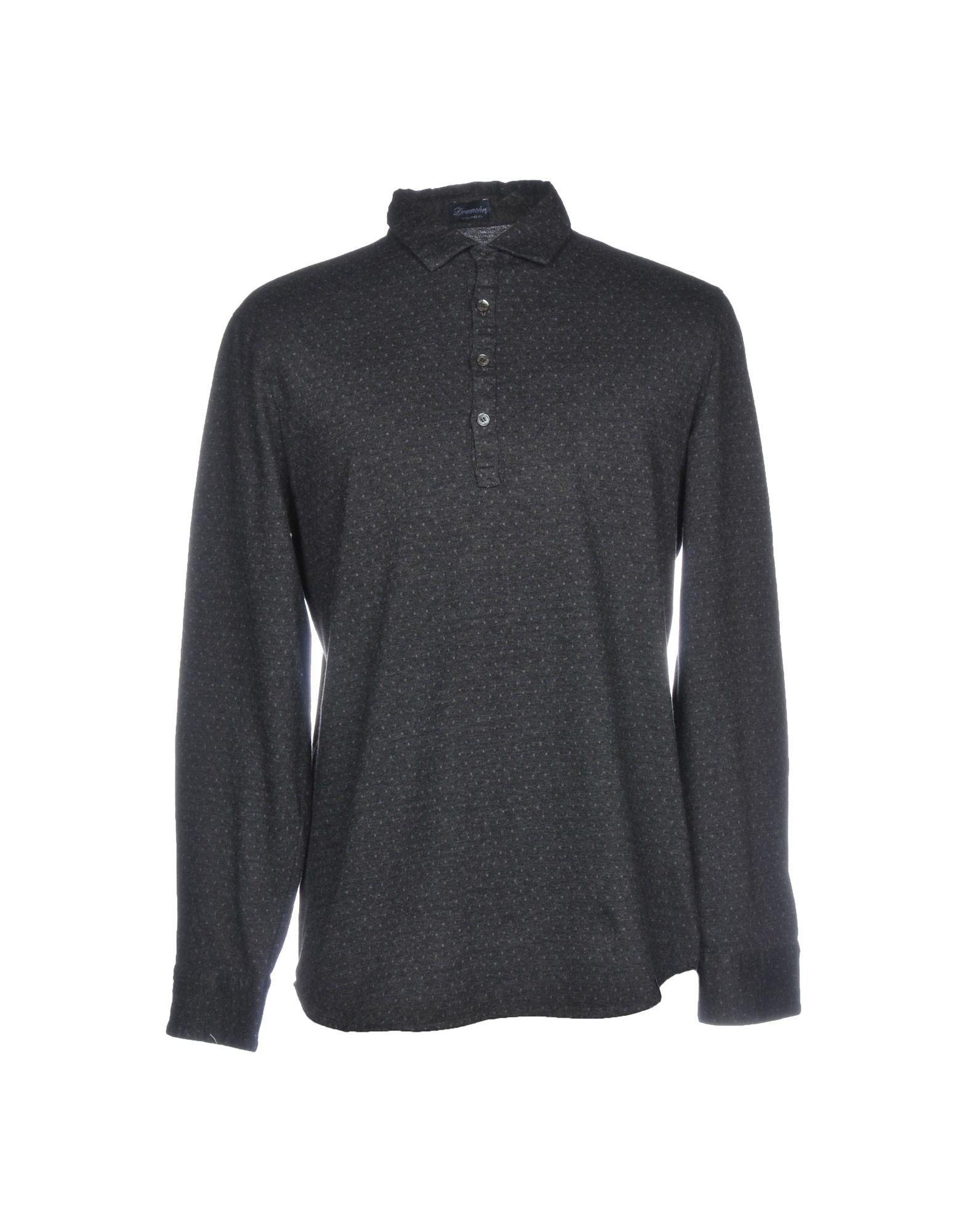 《送料無料》DRUMOHR メンズ ポロシャツ スチールグレー L コットン 100%