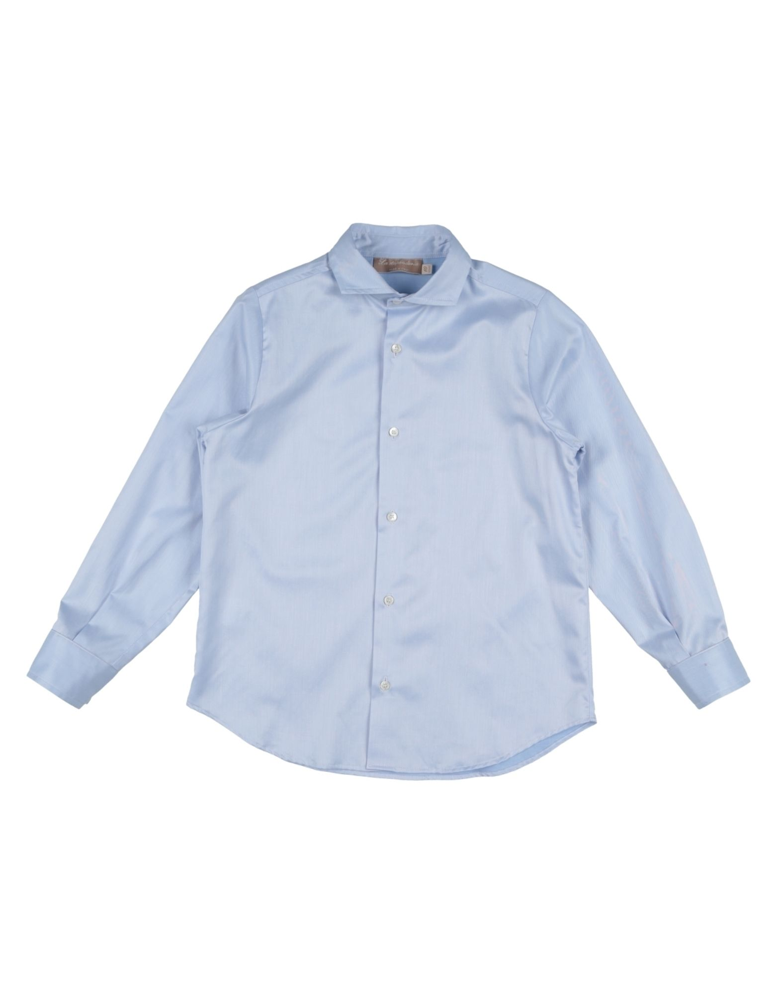 LA STUPENDERIA Solid Color Shirt in Sky Blue