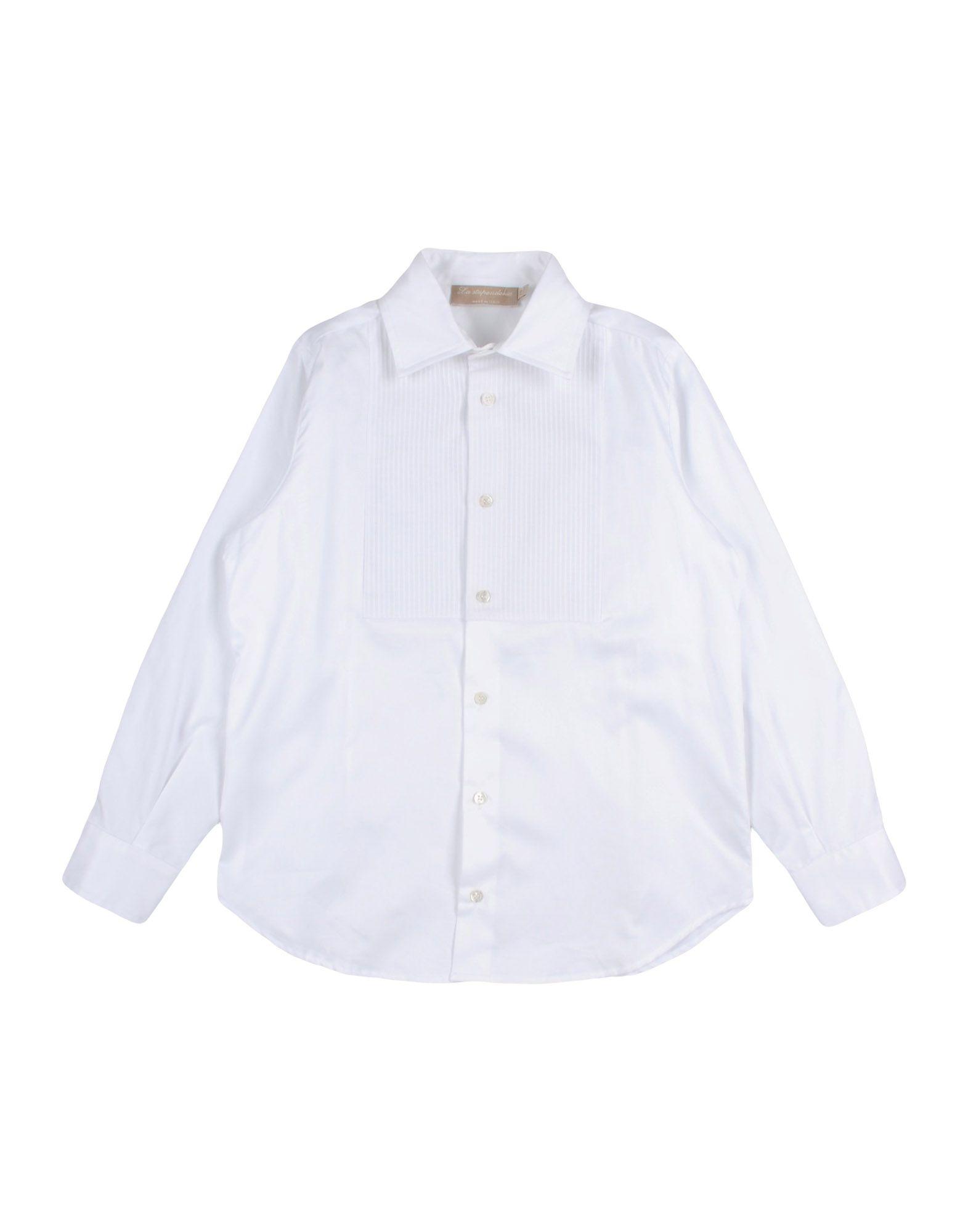 LA STUPENDERIA Solid Color Shirt in White