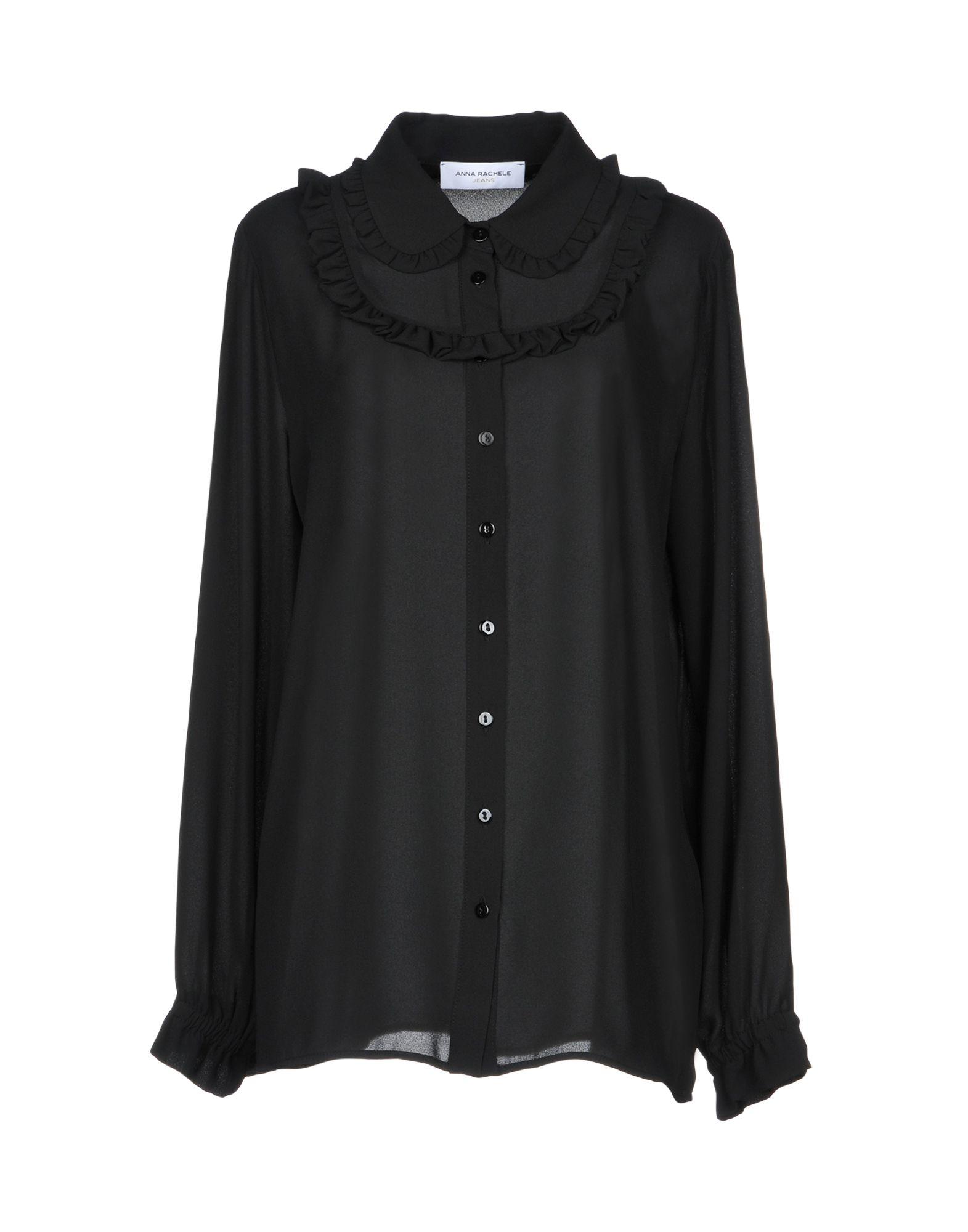 ANNA RACHELE JEANS COLLECTION Damen Hemd Farbe Schwarz Größe 6