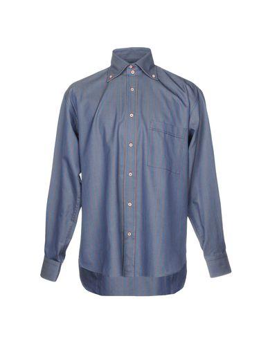Фото - Pубашка от GIANMARCO BONAGA синего цвета