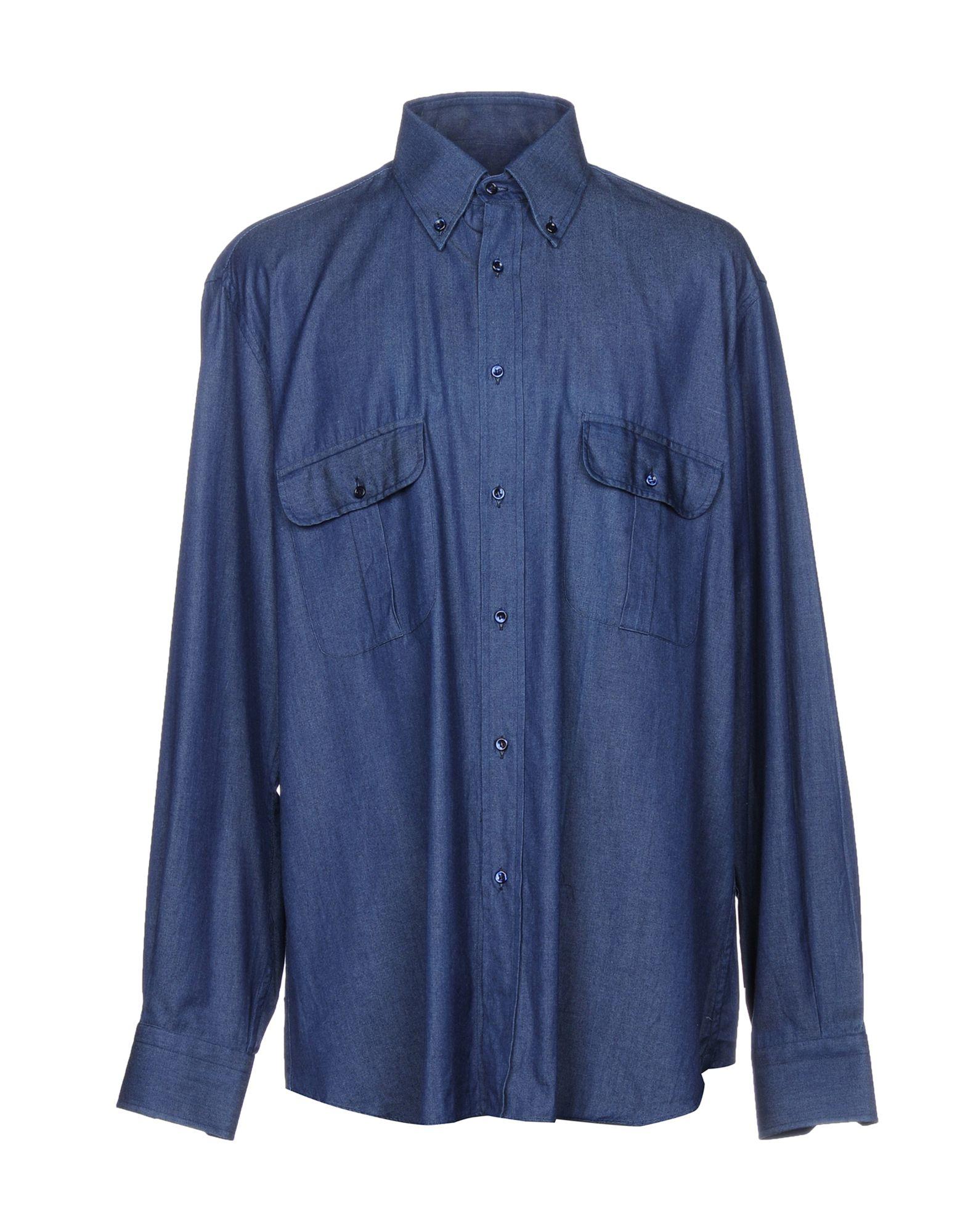 GIANMARCO BONAGA Джинсовая рубашка