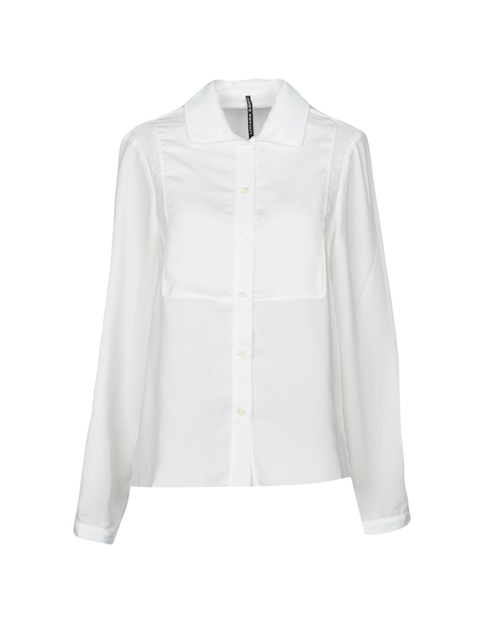 LIVIANA CONTI Solid Color Shirts & Blouses in White