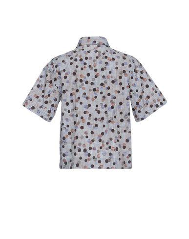 Фото 2 - Pубашка светло-серого цвета