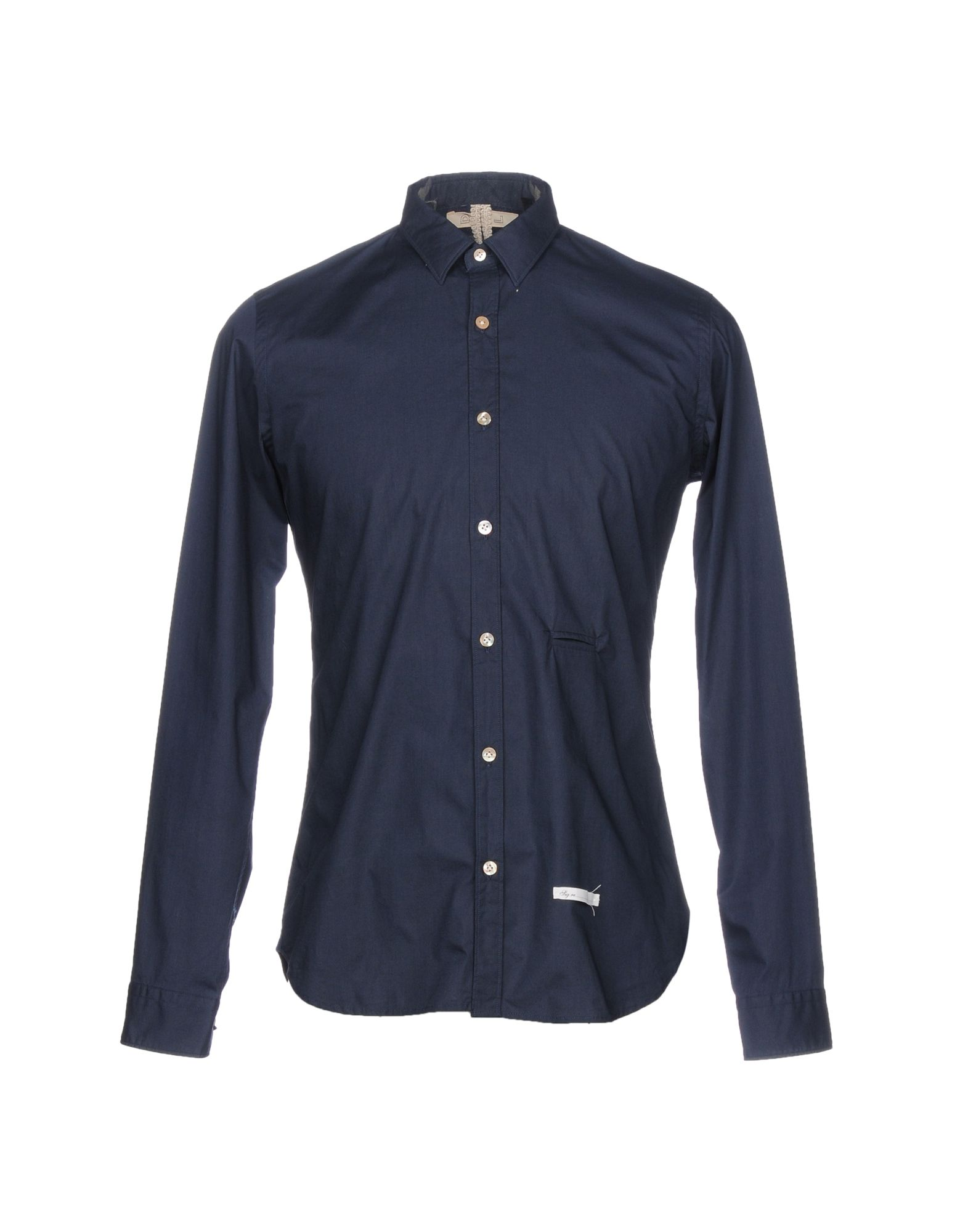 DNL Solid Color Shirt in Dark Blue