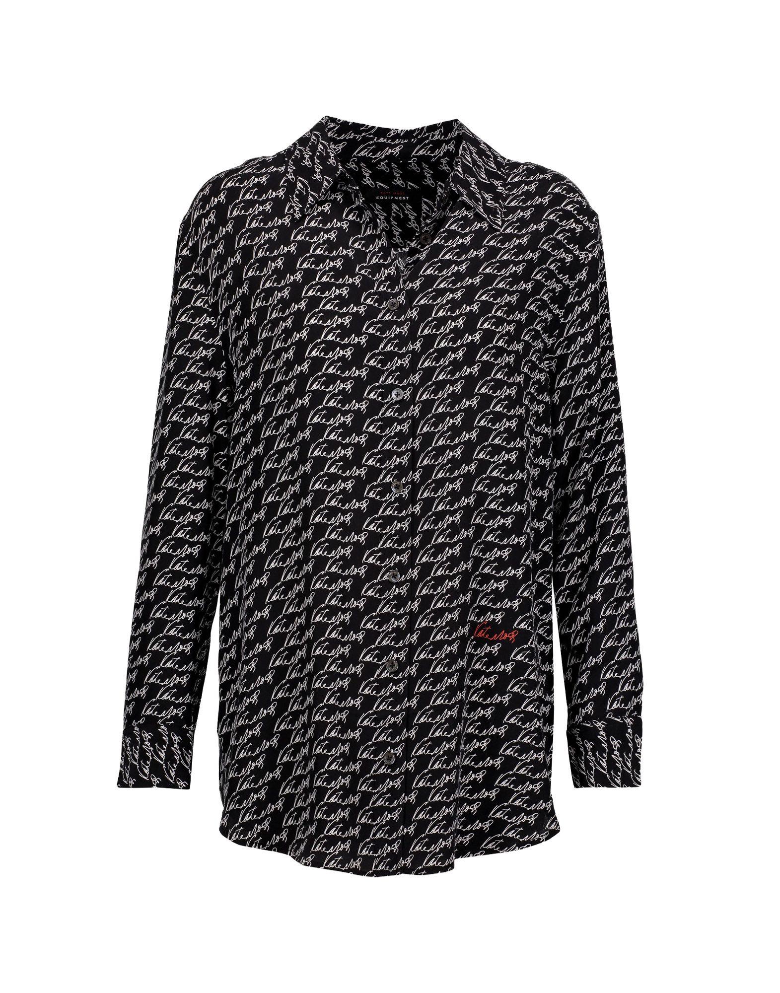 《セール開催中》KATE MOSS EQUIPMENT レディース シャツ ブラック XS シルク 100%