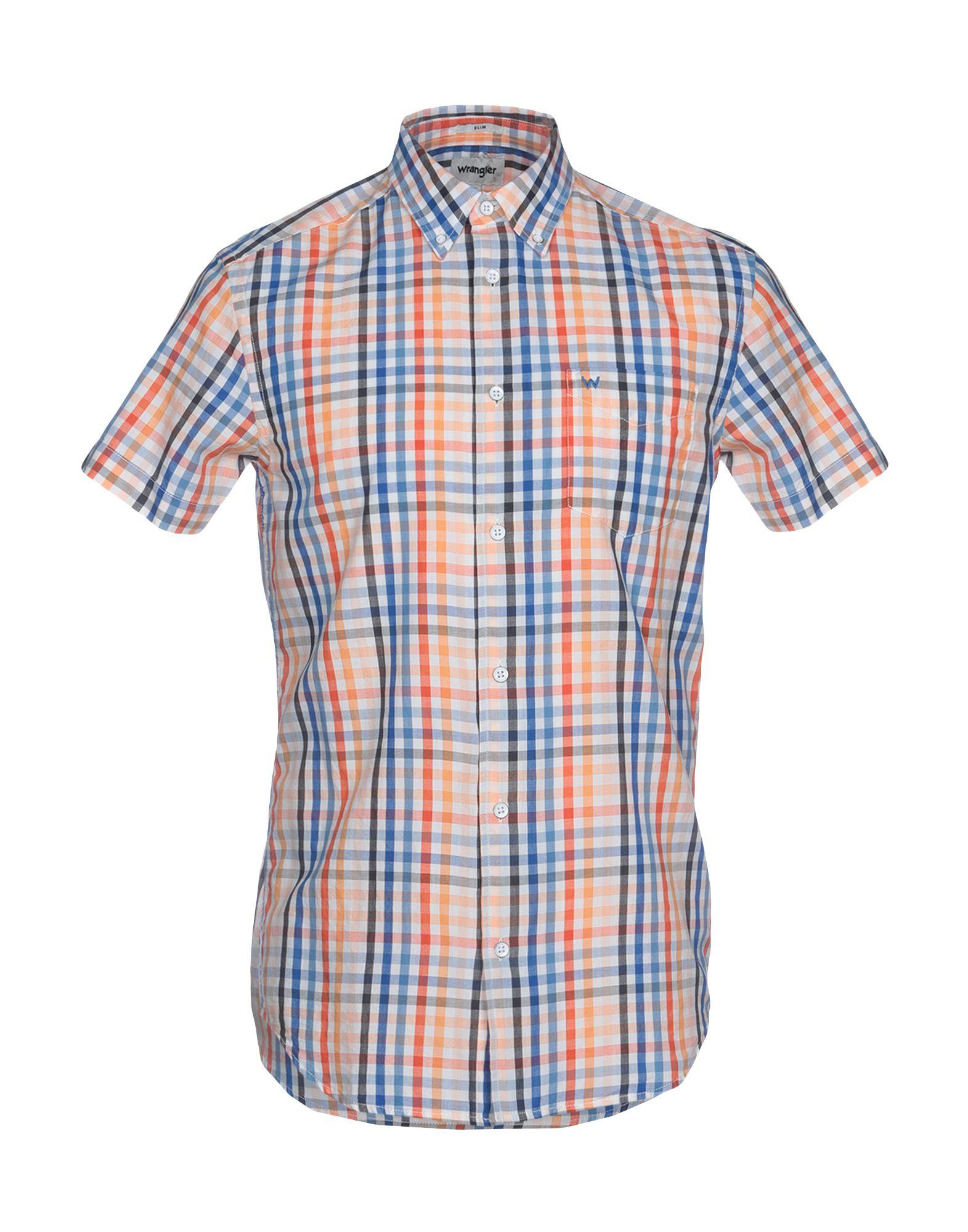 《セール開催中》WRANGLER メンズ シャツ オレンジ S コットン 100%