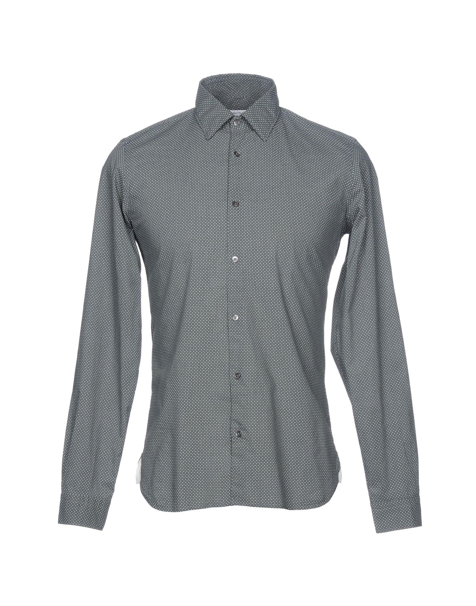 ROBERT FRIEDMAN Patterned Shirt in Lead