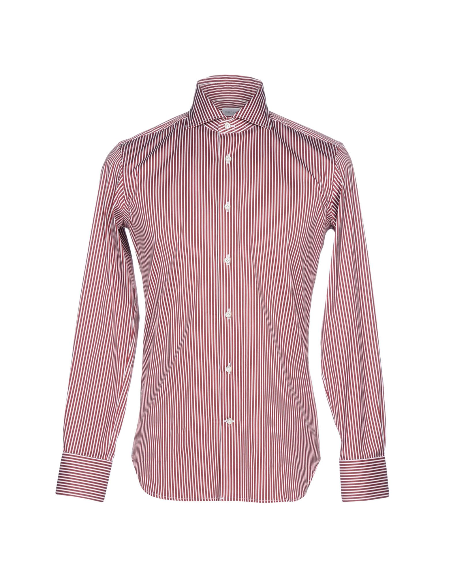 BORSA Striped Shirt in Maroon