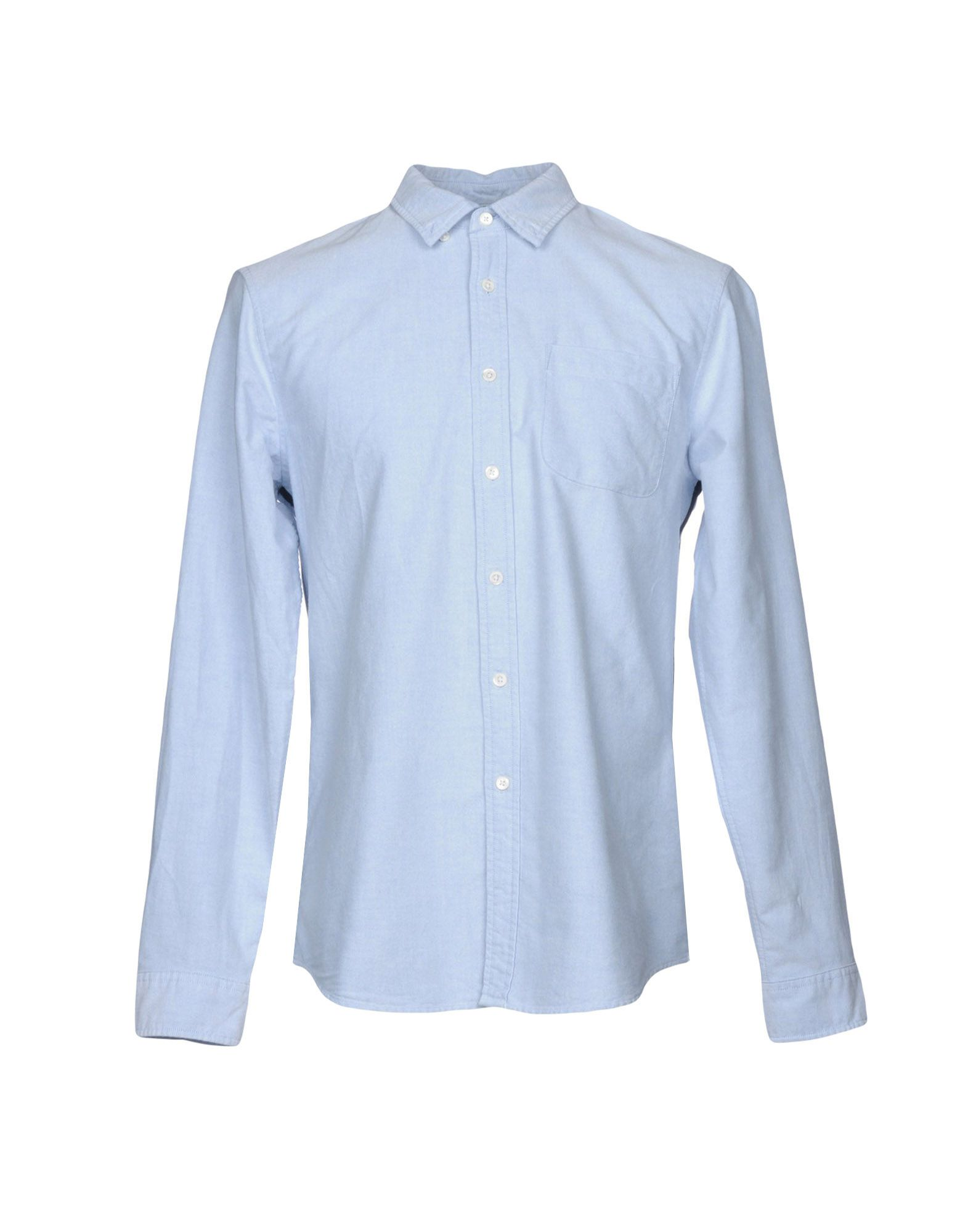 OUTERKNOWN Solid Color Shirt in Sky Blue