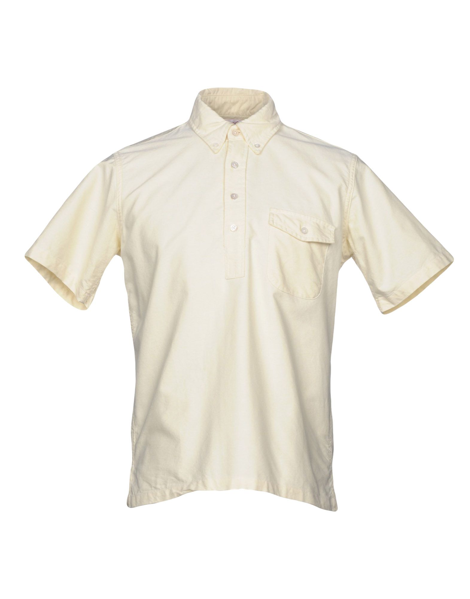 BATTENWEAR Solid Color Shirt in Light Yellow