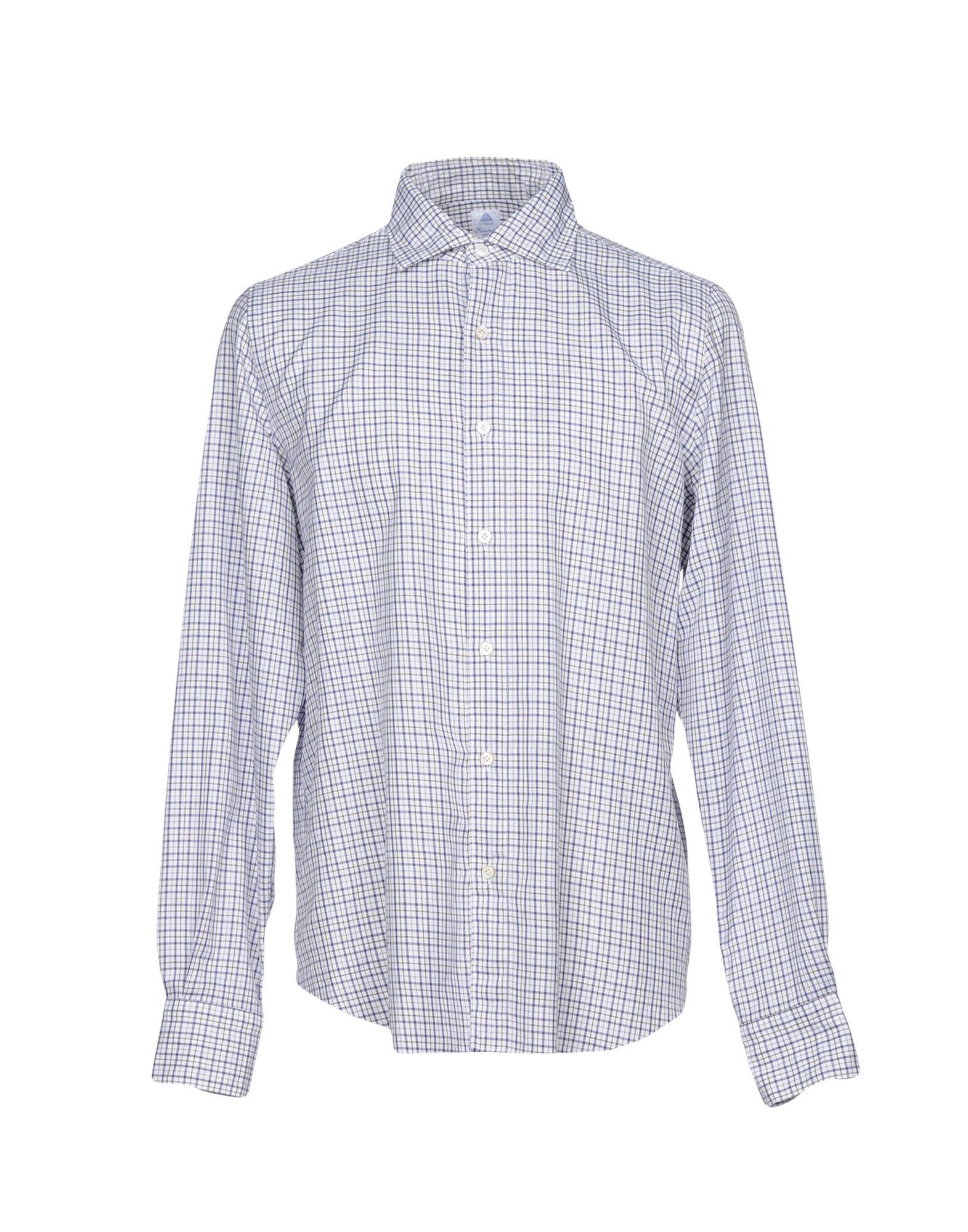 《送料無料》FINAMORE 1925 メンズ シャツ ホワイト 41 コットン 100%