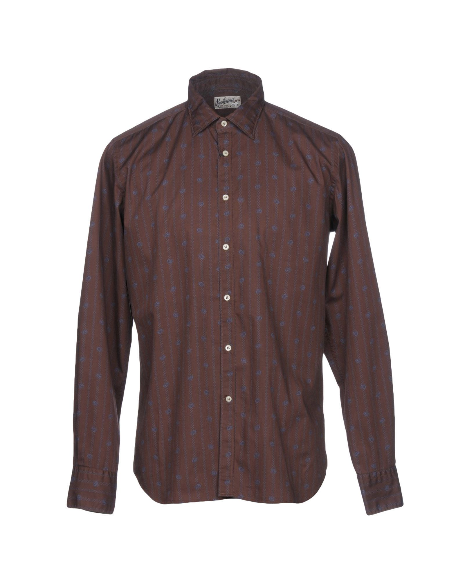 BEVILACQUA Patterned Shirt in Cocoa