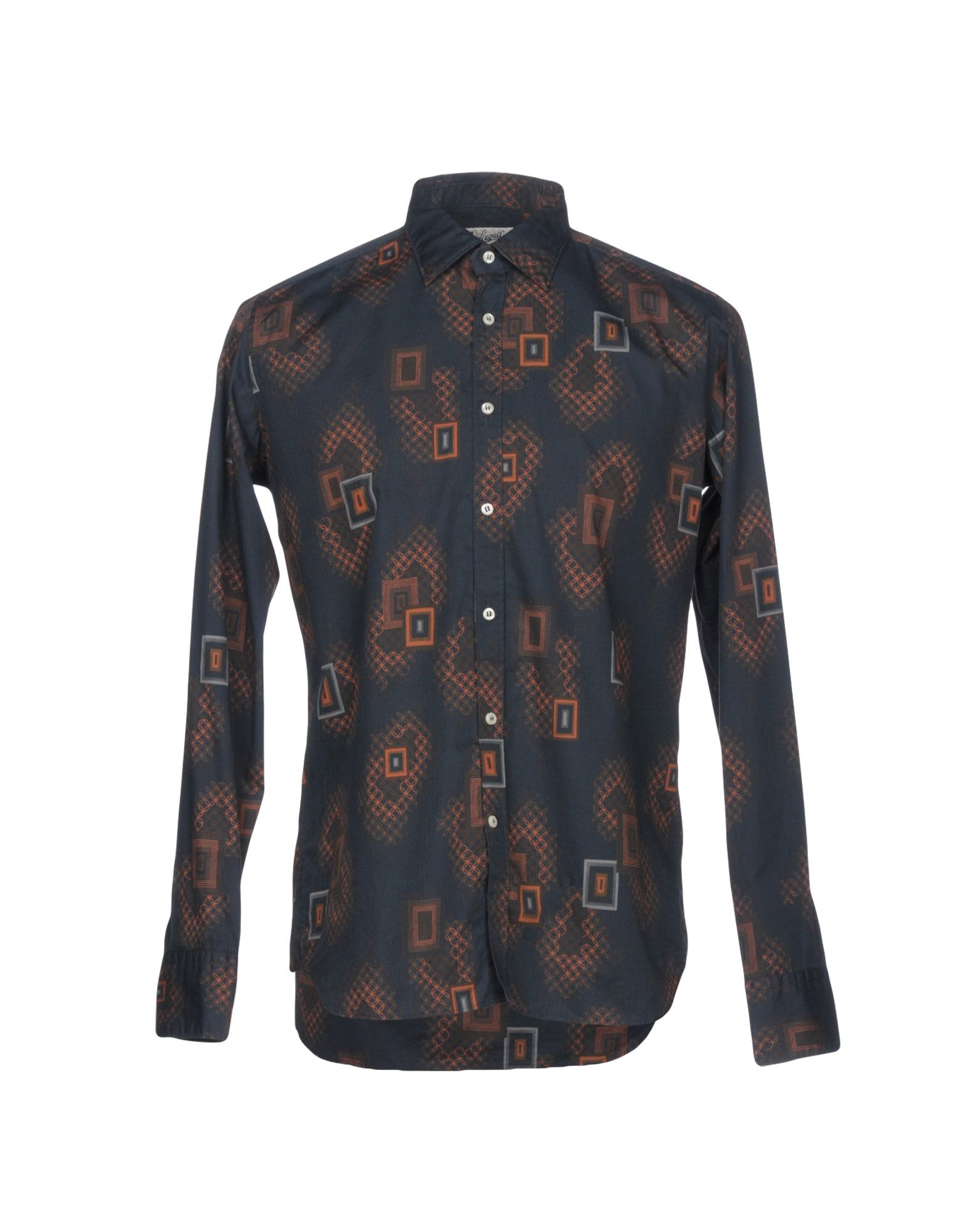 BEVILACQUA Patterned Shirt in Dark Blue