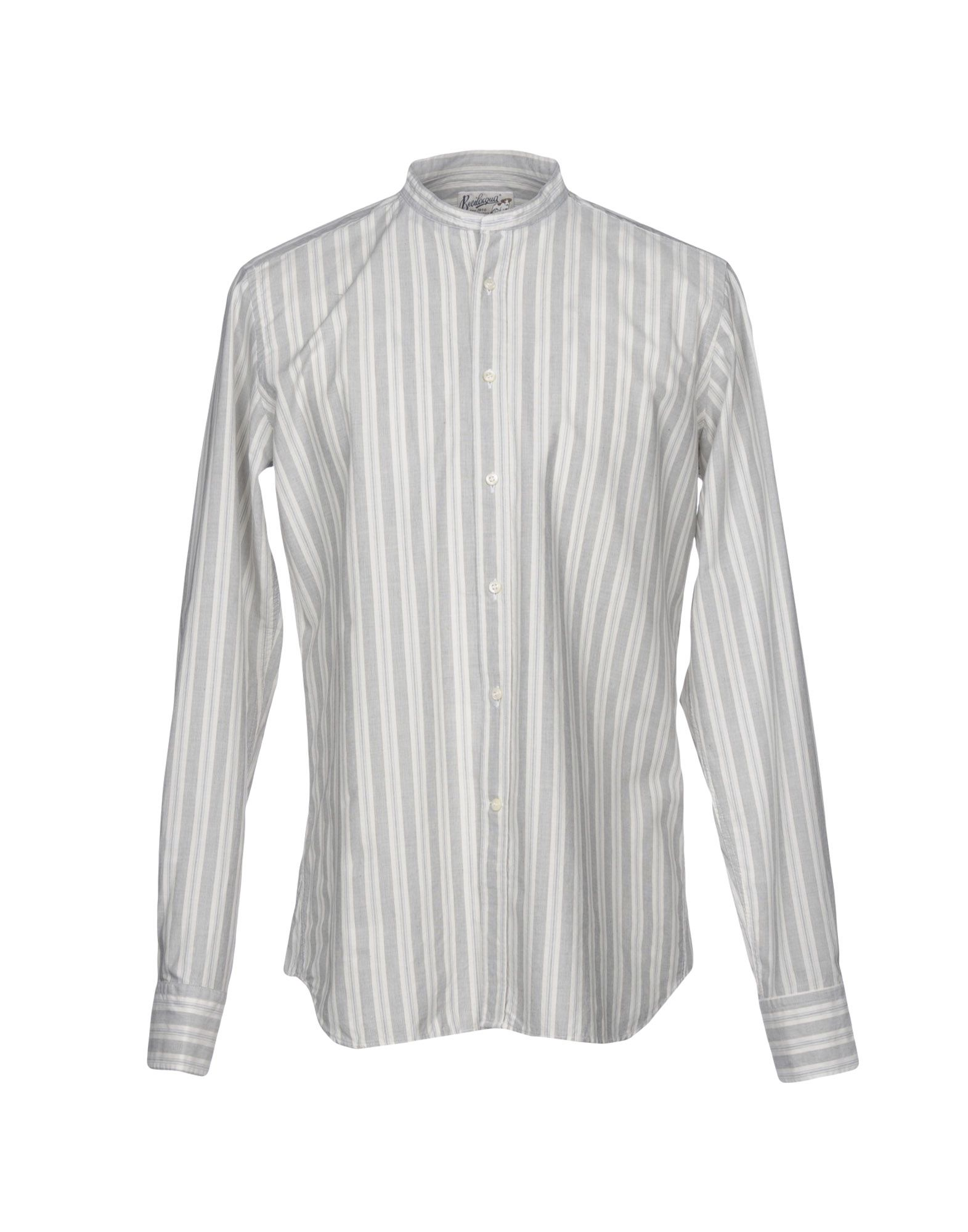 BEVILACQUA Striped Shirt in Light Grey