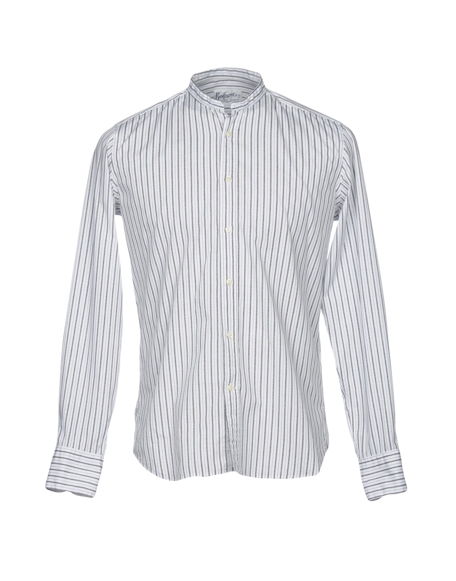 BEVILACQUA Striped Shirt in Grey