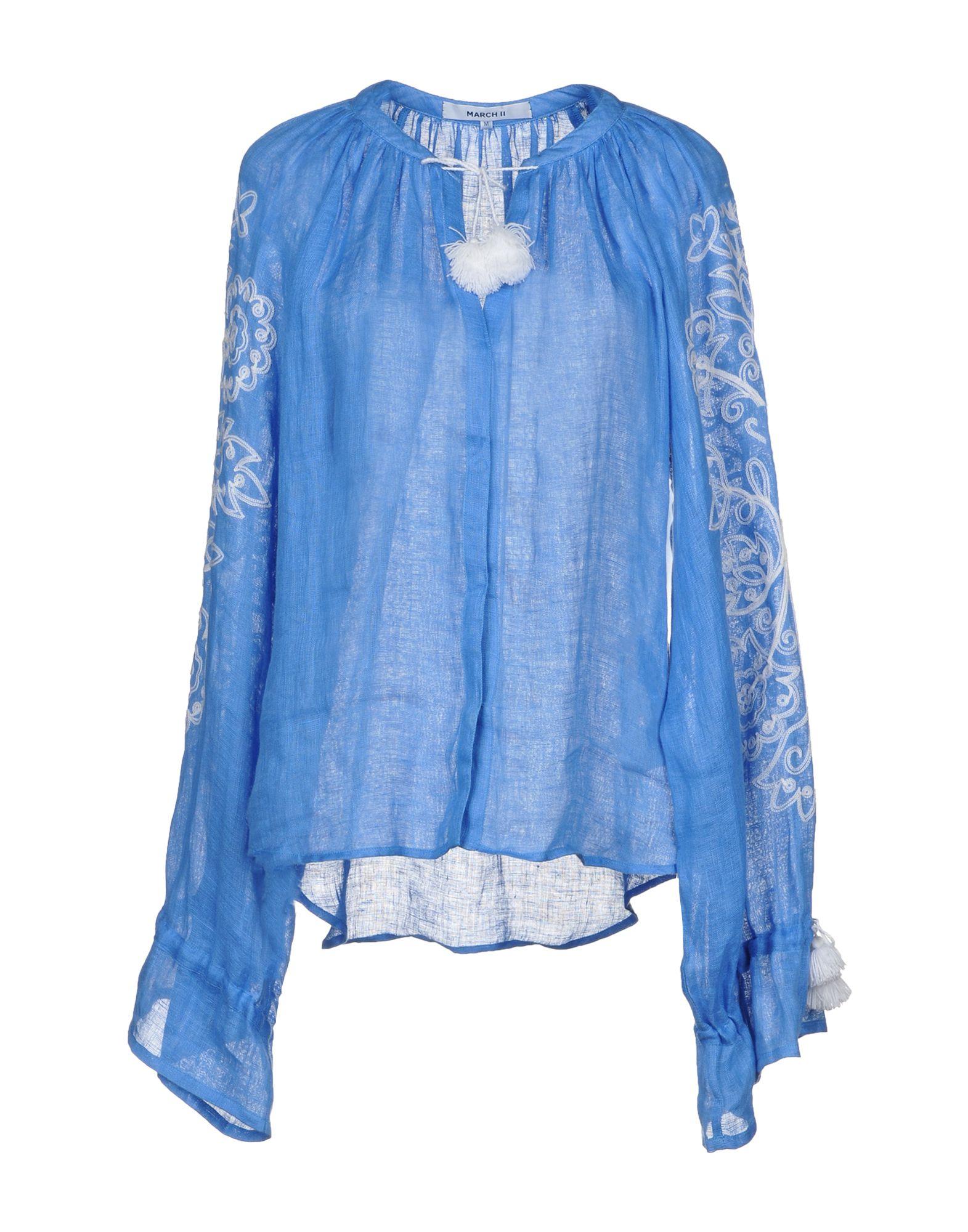 MARCH11 Linen Shirt in Azure
