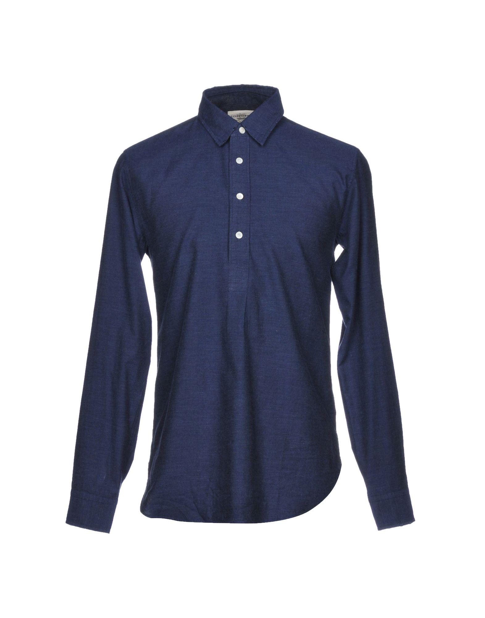《送料無料》KENT & CURWEN メンズ シャツ ダークブルー S コットン 100%