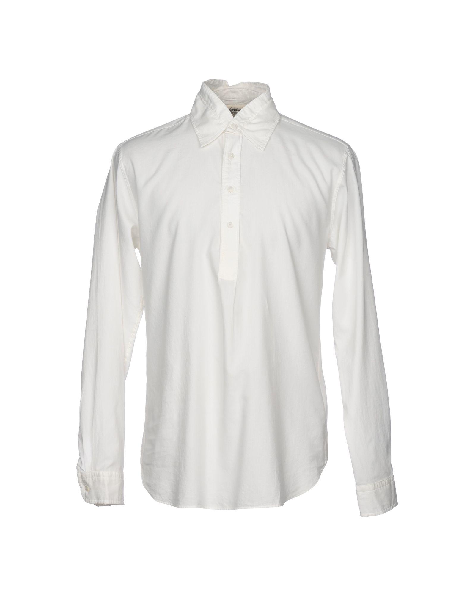 《期間限定セール中》KENT & CURWEN メンズ シャツ ホワイト L コットン 100%