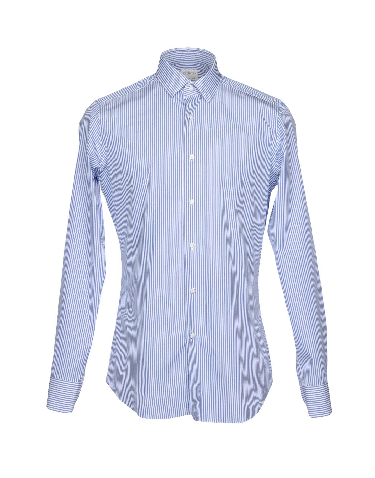 《送料無料》BAGUTTA メンズ シャツ ホワイト 41 コットン 100%