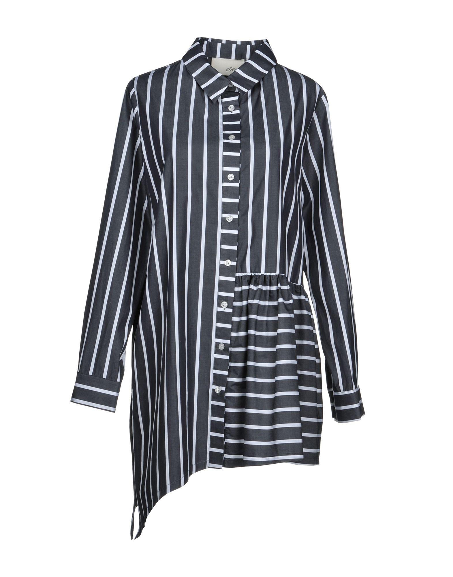 ELAIDI Striped Shirt in Lead