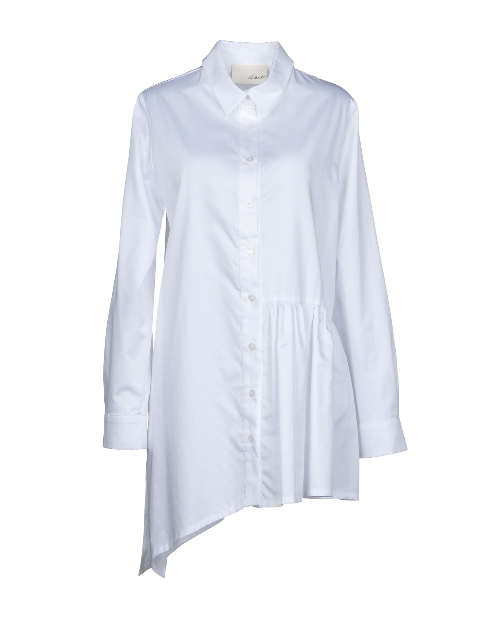 ELAIDI Solid Color Shirts & Blouses in White