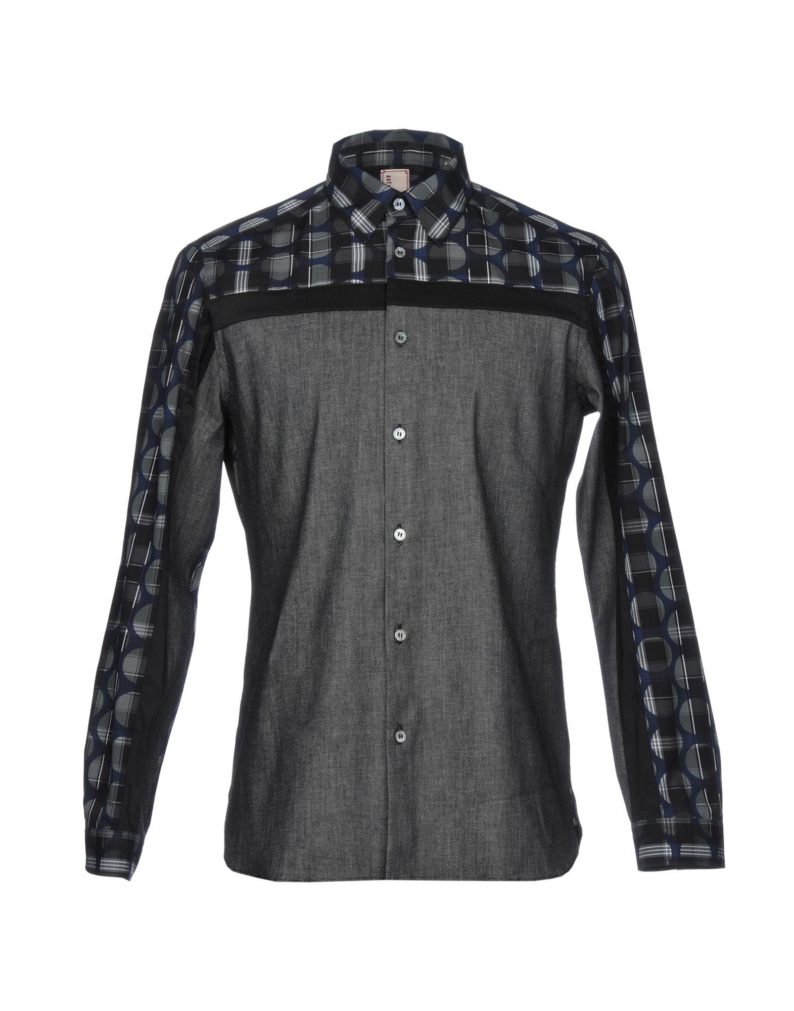 《セール開催中》ANTONIO MARRAS メンズ シャツ 鉛色 41 コットン 100%
