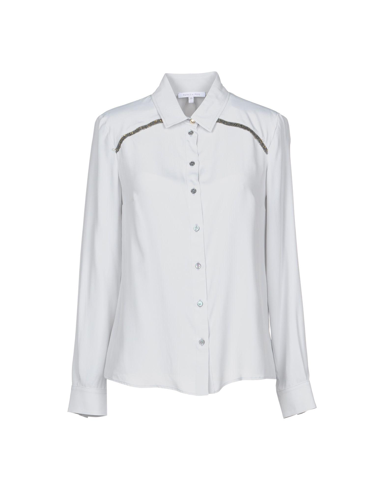 《セール開催中》PATRIZIA PEPE レディース シャツ グレー 40 アセテート 76% / シルク 24%