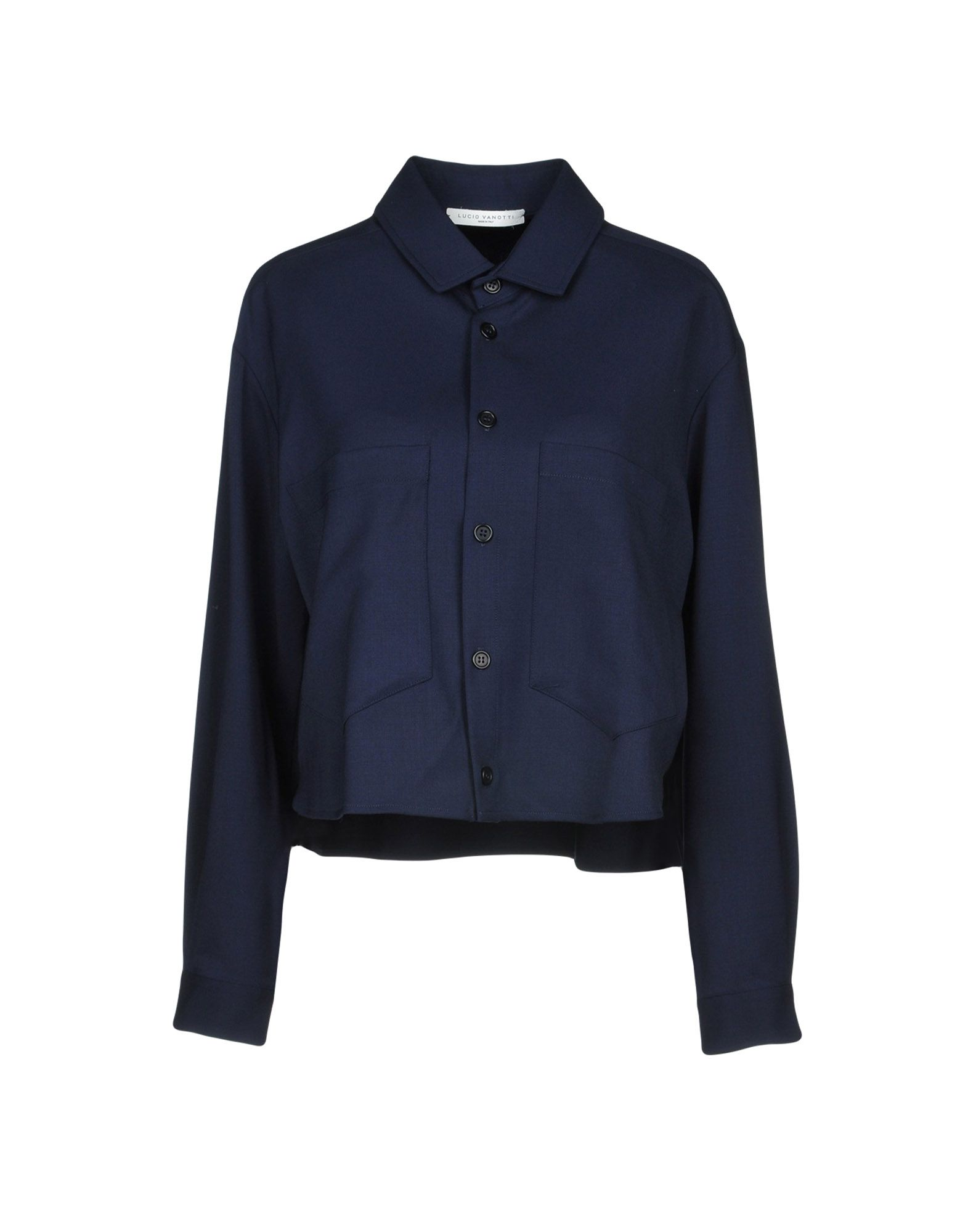 LUCIO VANOTTI Solid Color Shirts & Blouses in Dark Blue