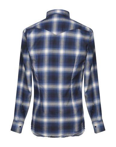 Фото 2 - Pубашка от ELEVENTY синего цвета
