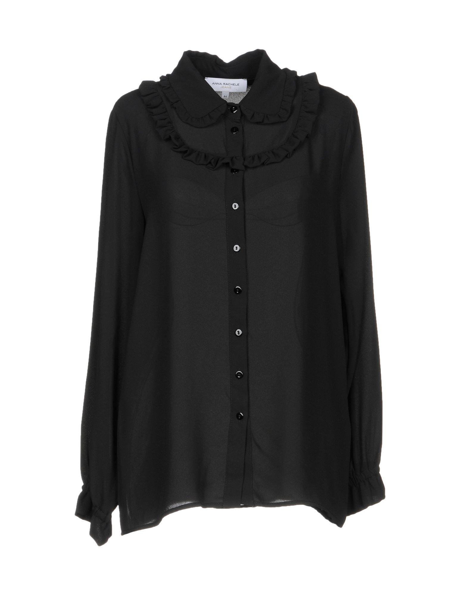 ANNA RACHELE Damen Hemd Farbe Schwarz Größe 5