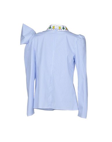 Фото 2 - Женскую блузку  небесно-голубого цвета