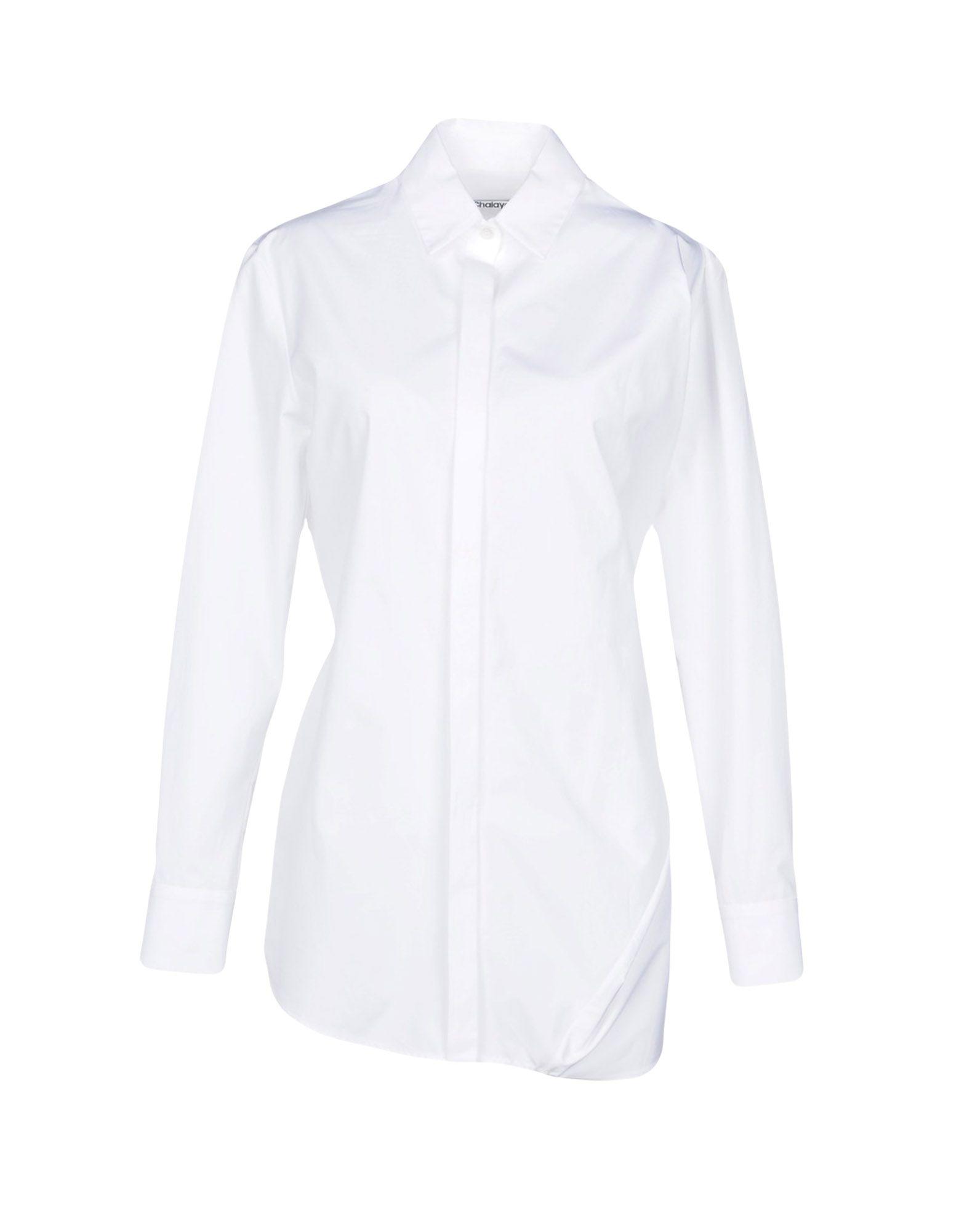 《送料無料》CHALAYAN レディース シャツ ホワイト 40 コットン 100%