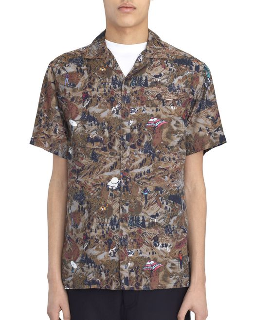 """MOUNTAINS"" BOWLING SHIRT - Lanvin"