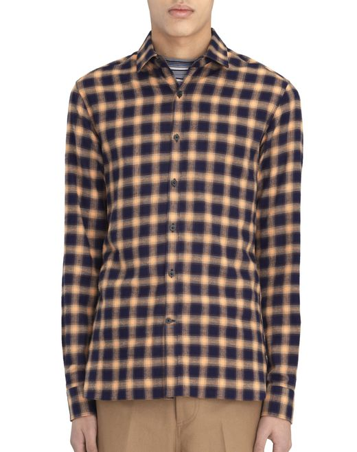 FITTED SHIRT WITH SMALL CHECKERED PATTERN - Lanvin