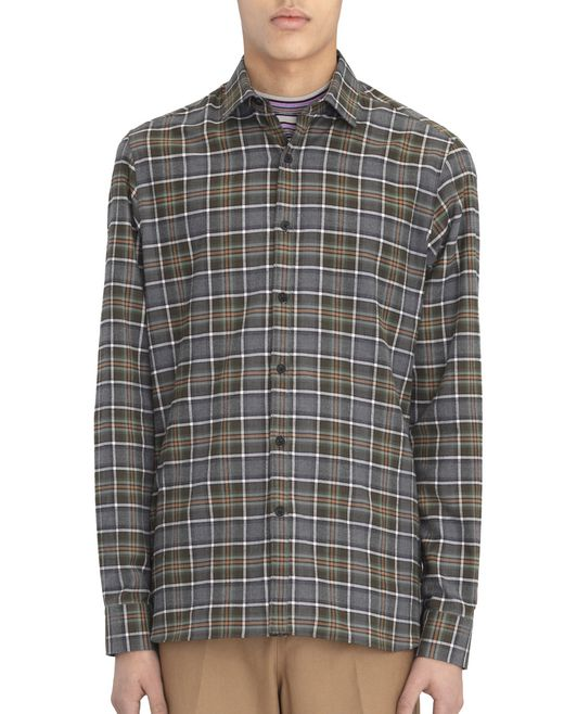 FITTED SHIRT WITH LARGE CHECKERED PATTERN - Lanvin
