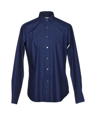 BAGUTTA メンズ シャツ ブルー S コットン 100%