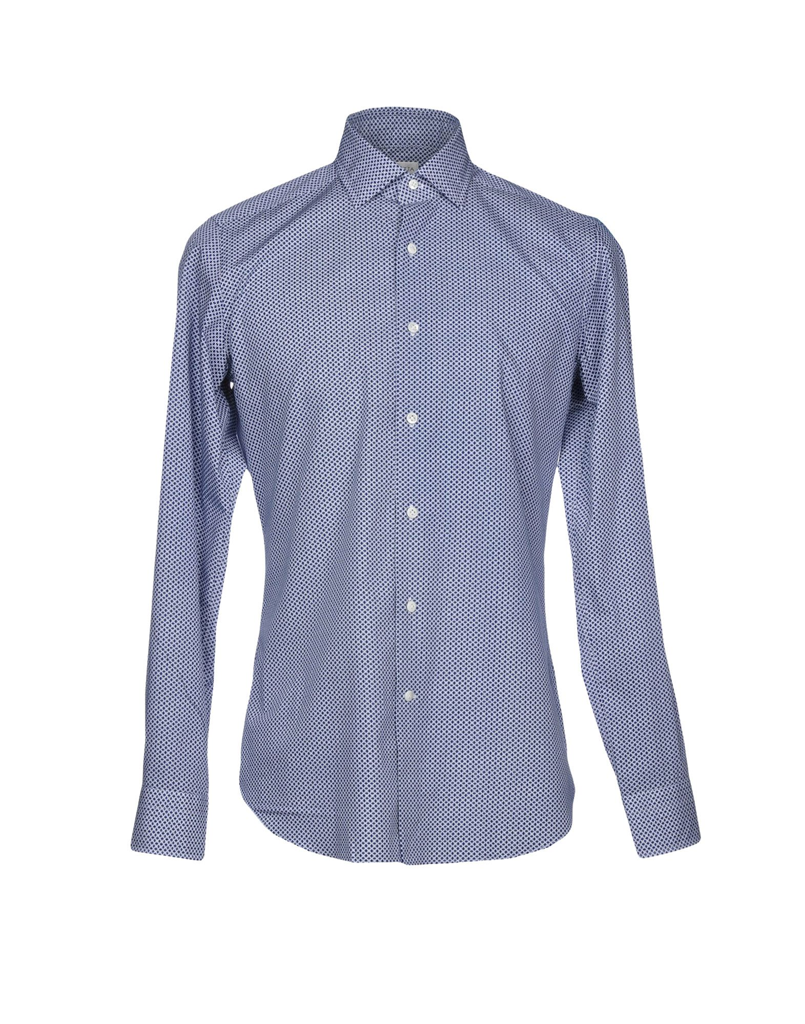 《送料無料》BAGUTTA メンズ シャツ ブルー 45 コットン 100%