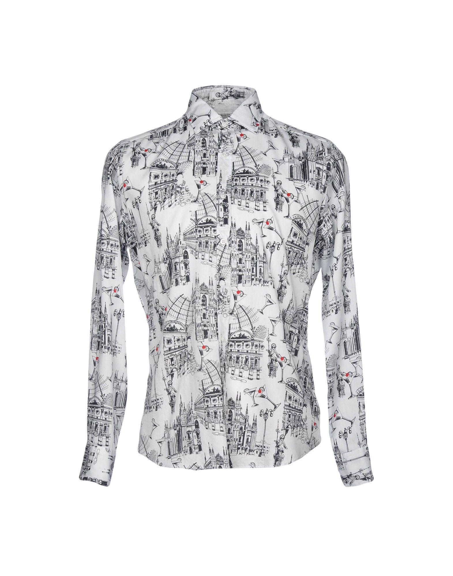 《送料無料》BAGUTTA メンズ シャツ ホワイト M コットン 100%