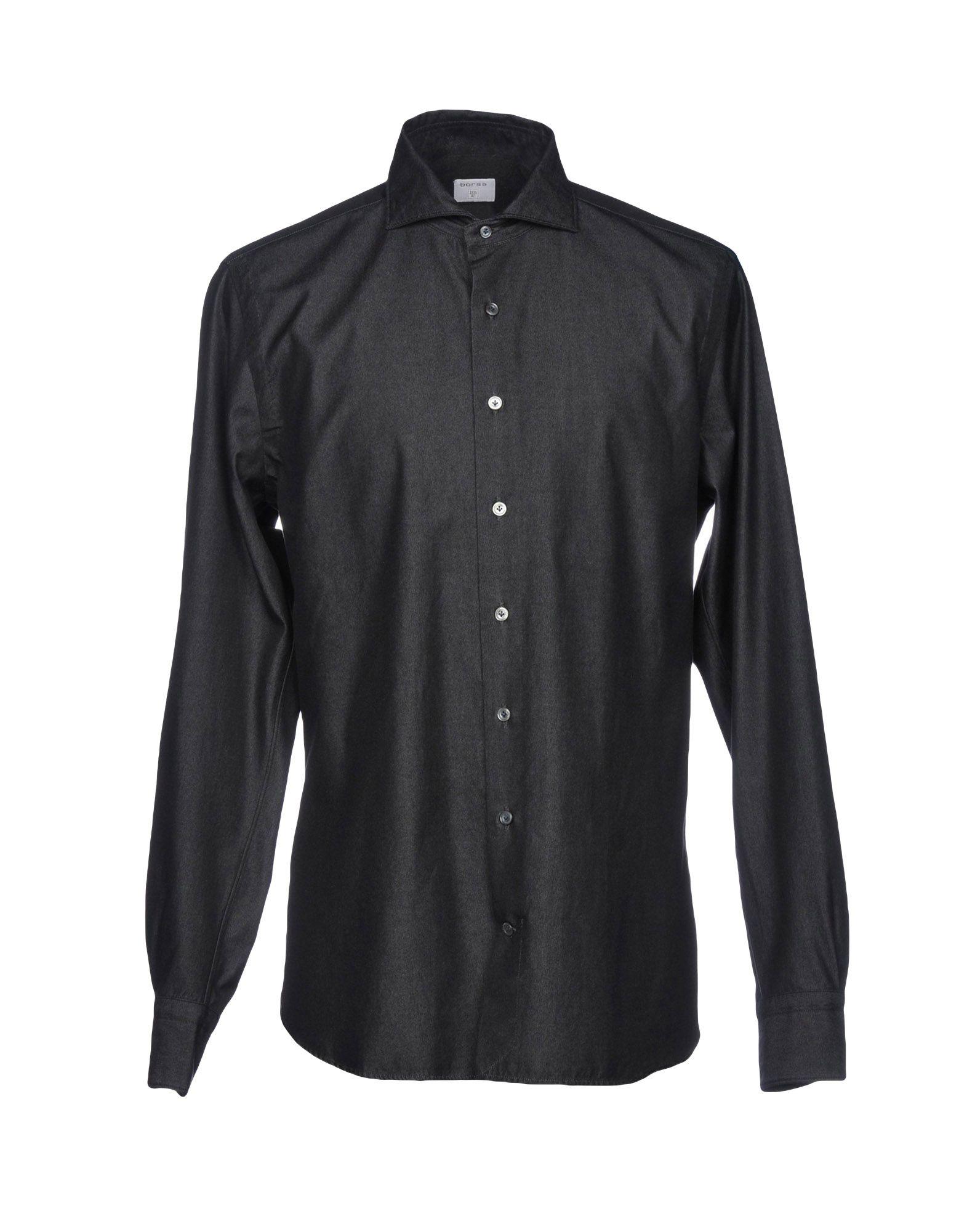 BORSA Denim Shirt in Steel Grey
